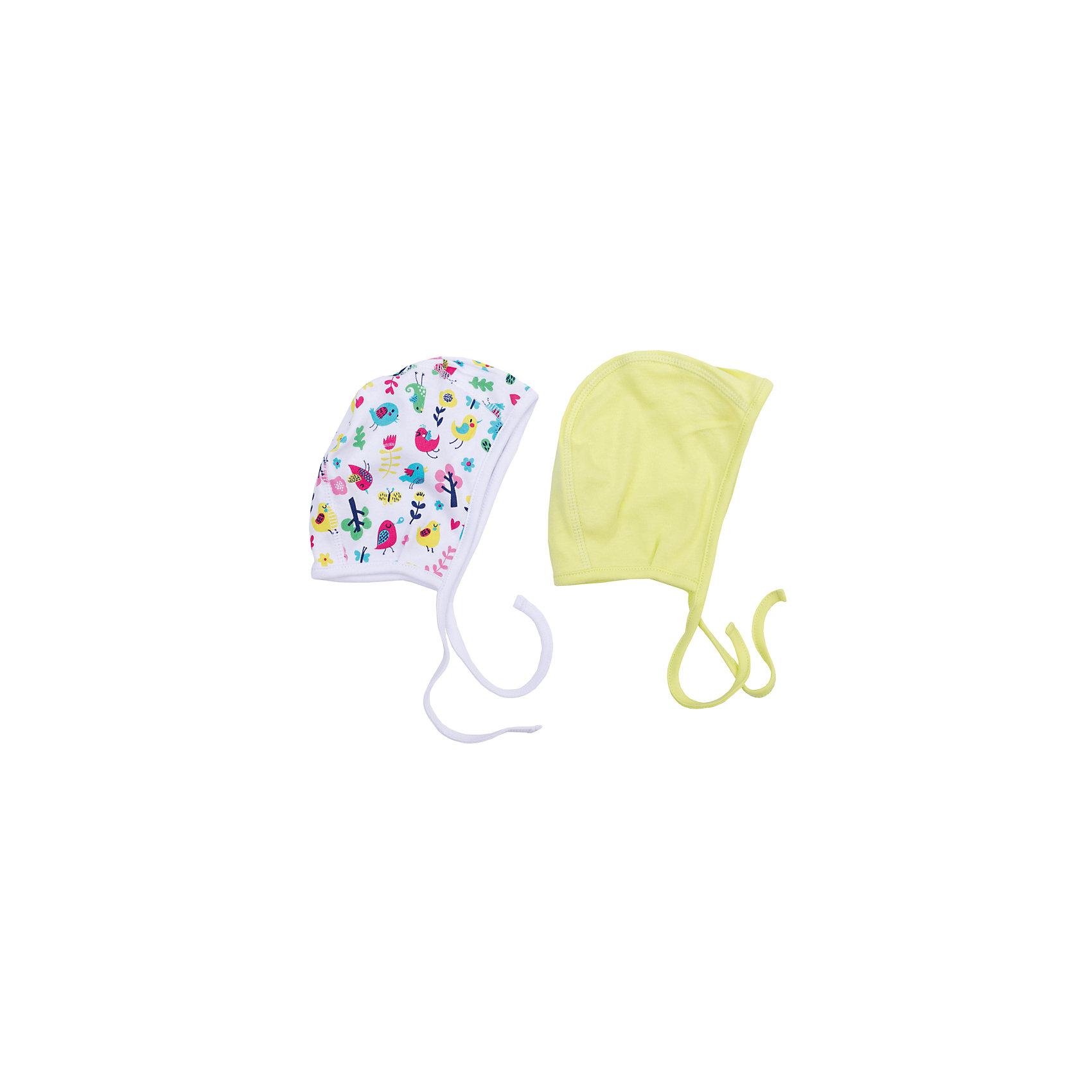 Чепчик, 2 шт. для девочки PlayTodayШапочки<br>Чепчик, 2 шт. для девочки от известного бренда PlayToday.<br>Комплект из двух уютных хлопковых чепчиков. Первая модель украшена принтом с яркими сказочными птичками, вторая - лимонно-лаймового цвета. Удобные завязки. Чепчики можно носить под вязаными шапочками.<br>Состав:<br>100% хлопок<br><br>Ширина мм: 157<br>Глубина мм: 13<br>Высота мм: 119<br>Вес г: 200<br>Цвет: белый<br>Возраст от месяцев: 3<br>Возраст до месяцев: 6<br>Пол: Женский<br>Возраст: Детский<br>Размер: 42,40,44<br>SKU: 4901132