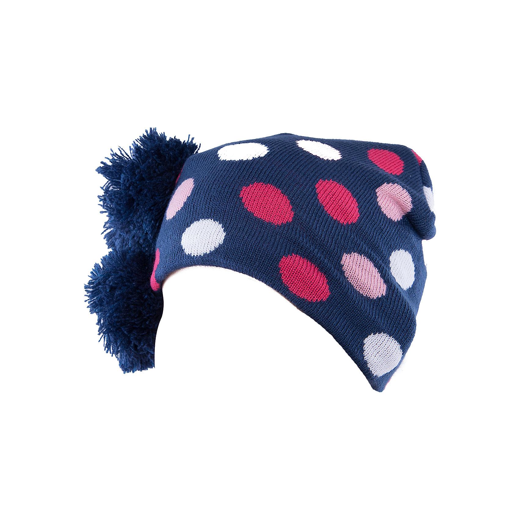 Шапочка для девочки PlayTodayШапочка для девочки от известного бренда PlayToday.<br>Яркая вязаная шапочка в яркий горошекю Внутри уютная флисовая подкладка. Украшена забавными помпонами.<br>Состав:<br>Верх: 100% акрил,  подкладка: 100% полиэстер<br><br>Ширина мм: 157<br>Глубина мм: 13<br>Высота мм: 119<br>Вес г: 200<br>Цвет: разноцветный<br>Возраст от месяцев: 12<br>Возраст до месяцев: 18<br>Пол: Женский<br>Возраст: Детский<br>Размер: 46,48<br>SKU: 4901162