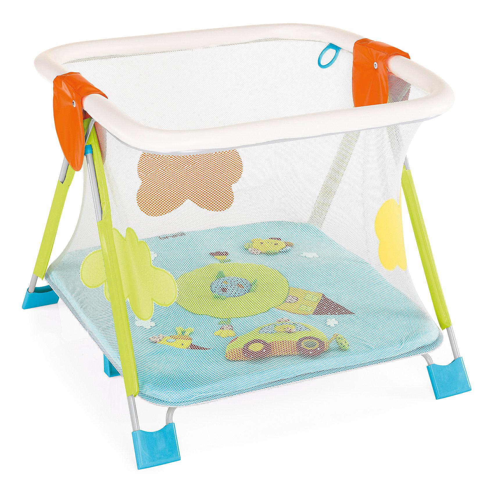 Манеж SOFT &amp; PLAY GIRAMONDO, Brevi, голубой/зеленый/оранжевыйИгровые манежи<br>SOFT &amp; PLAY GIRAMONDO, Brevi (брэви) – манеж для детей от рождения до 3 лет, позволяющий ребенку не только находиться в безопасности, но и развиваться. Манеж оснащен четырьмя ручками, чтобы малыш учился подниматься сам и мягкими бортиками во избежание травм. Легко складывается, все ткани можно стирать при температуре 30° С. Яркая расцветка и множество игрушек не оставят вашего ребенка равнодушным!<br>Особенности и преимущества:<br>- 4 ручки-кольца<br>-надежная рама и основание<br>-легко складывается и занимает мало места<br>-три ярких игрушки в комплекте: котенок с погремушкой, чирикающая птичка и машинка с клаксоном, шуршащей поверхностью и специальным безопасным зеркальцем<br>Размеры: 79x79x125 см<br>Вес: 15 кг<br>SOFT &amp; PLAY GIRAMONDO можно приобрести в нашем интернет-магазине<br><br>Ширина мм: 1250<br>Глубина мм: 790<br>Высота мм: 790<br>Вес г: 15000<br>Возраст от месяцев: 3<br>Возраст до месяцев: 36<br>Пол: Унисекс<br>Возраст: Детский<br>SKU: 4902069