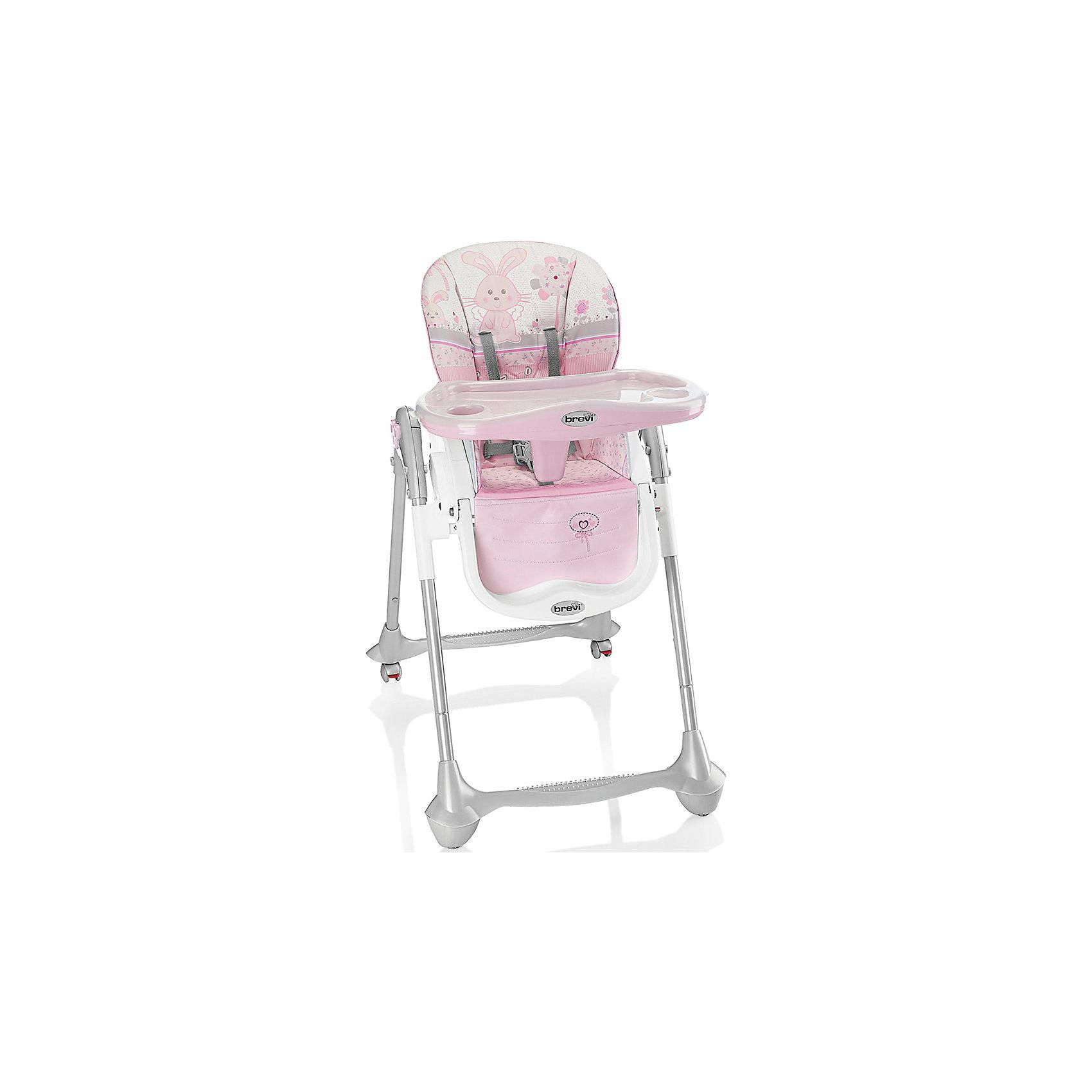 Стульчик для кормления Convivio, Brevi, розовый/зайчикConvivio, Brevi (брэви) – стульчик для кормления детей от 6 месяцев до 3 лет. Есть три положения спинки для удобства ребенка, три положения подножки и четыре уровня сиденья. Кроме того, привлекательная расцветка превратит любое кормление в настоящее удовольствие для вас и вашего малыша.<br>Особенности и преимущества:<br>-колеса с фиксатором для удобства перемещения стульчика<br>-легкомоющиеся материалы<br>-5-точечные ремни для максимальной безопасности малыша<br>-двойной съемный поднос<br>-очень компактен в собранном виде<br>Размеры: 33x57x68 см<br>Вес: 10,3 кг<br>ВНИМАНИЕ! Данный артикул имеется в наличии в разных цветовых исполнениях (св.серый/лисички, розовый/зайчик, оранжевый/сафари, голубой/полоски, бежевый/мишка). К сожалению, заранее выбрать определенный цвет не возможно.<br>Вы можете приобрести стульчик для кормления Convivio в нашем интернет-магазине<br><br>Ширина мм: 680<br>Глубина мм: 570<br>Высота мм: 330<br>Вес г: 10300<br>Возраст от месяцев: 6<br>Возраст до месяцев: 36<br>Пол: Женский<br>Возраст: Детский<br>SKU: 4902073