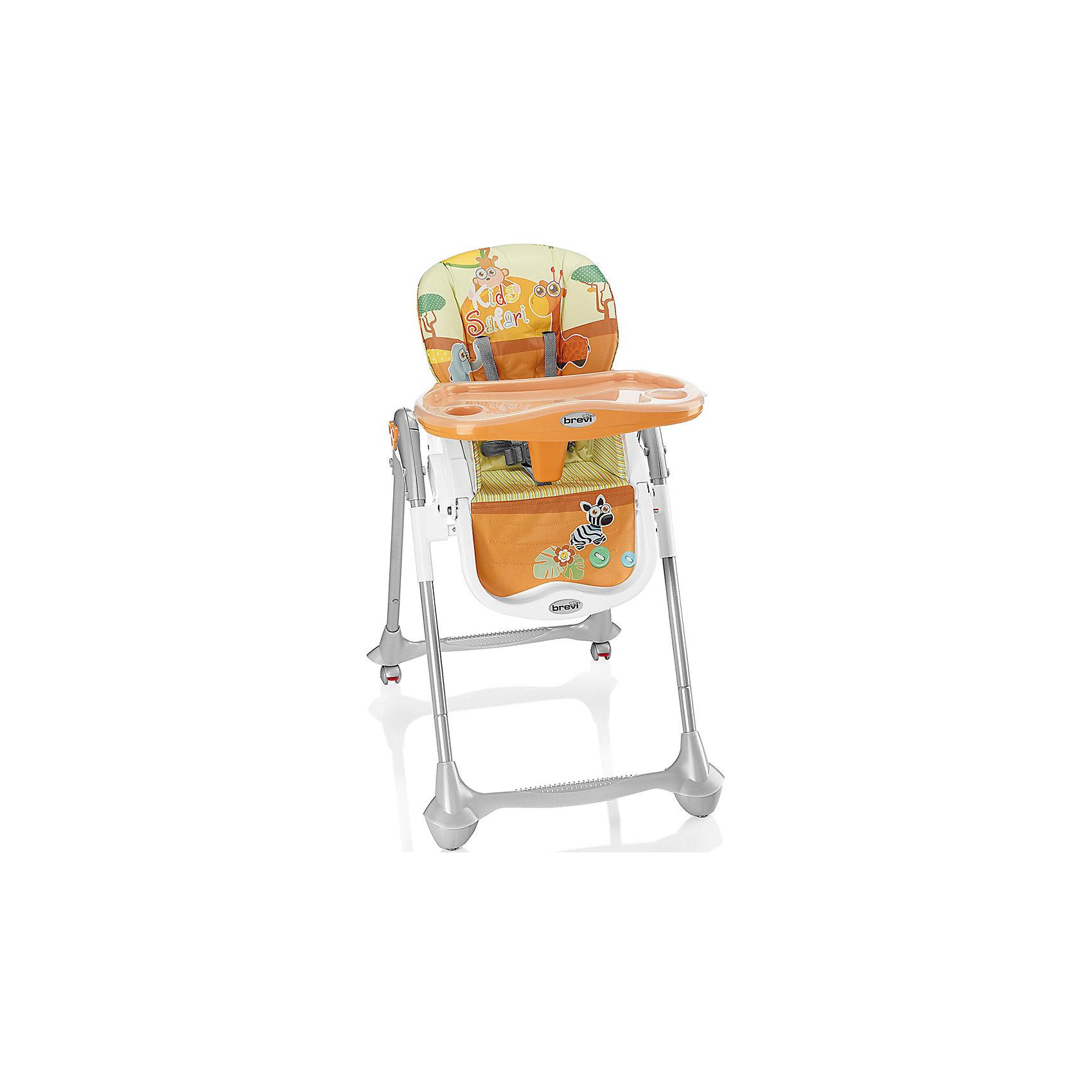 Стульчик для кормления Convivio, Brevi, оранжевый/сафариот +6 месяцев<br>Convivio, Brevi (брэви) – стульчик для кормления детей от 6 месяцев до 3 лет. Есть три положения спинки для удобства ребенка, три положения подножки и четыре уровня сиденья. Кроме того, привлекательная расцветка превратит любое кормление в настоящее удовольствие для вас и вашего малыша.<br>Особенности и преимущества:<br>-колеса с фиксатором для удобства перемещения стульчика<br>-легкомоющиеся материалы<br>-5-точечные ремни для максимальной безопасности малыша<br>-двойной съемный поднос<br>-очень компактен в собранном виде<br>Размеры: 33x57x68 см<br>Вес: 10,3 кг<br>ВНИМАНИЕ! Данный артикул имеется в наличии в разных цветовых исполнениях (св.серый/лисички, розовый/зайчик, оранжевый/сафари, голубой/полоски, бежевый/мишка). К сожалению, заранее выбрать определенный цвет не возможно.<br>Вы можете приобрести стульчик для кормления Convivio в нашем интернет-магазине<br><br>Ширина мм: 680<br>Глубина мм: 570<br>Высота мм: 330<br>Вес г: 10300<br>Возраст от месяцев: 6<br>Возраст до месяцев: 36<br>Пол: Унисекс<br>Возраст: Детский<br>SKU: 4902074