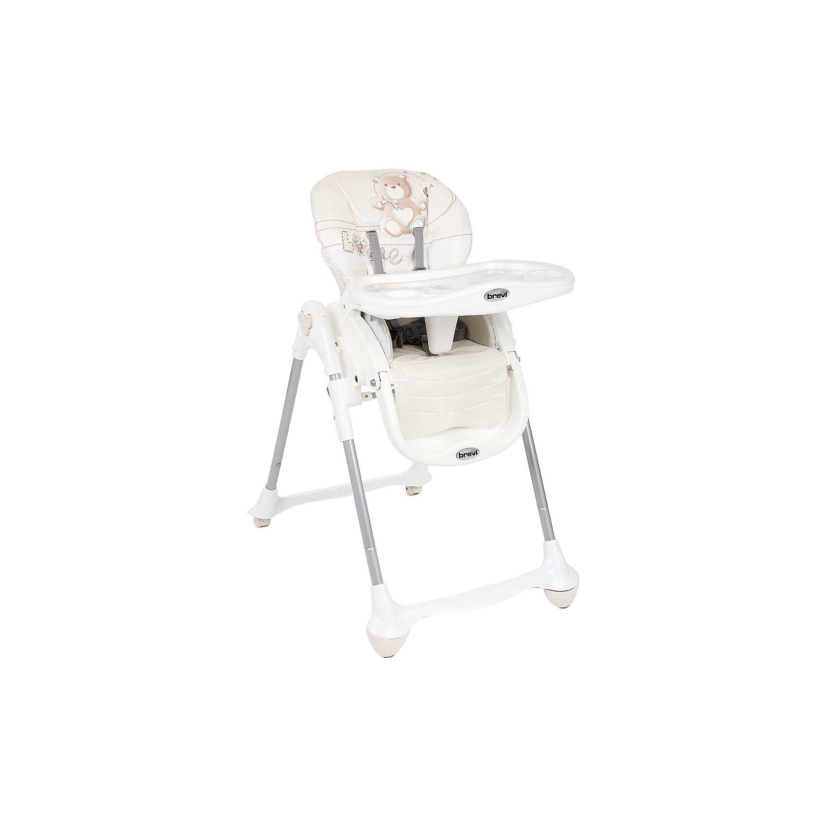 Стульчик для кормления Convivio, Brevi, бежевый/мишкаConvivio, Brevi (брэви) – стульчик для кормления детей от 6 месяцев до 3 лет. Есть три положения спинки для удобства ребенка, три положения подножки и четыре уровня сиденья. Кроме того, привлекательная расцветка превратит любое кормление в настоящее удовольствие для вас и вашего малыша.<br>Особенности и преимущества:<br>-колеса с фиксатором для удобства перемещения стульчика<br>-легкомоющиеся материалы<br>-5-точечные ремни для максимальной безопасности малыша<br>-двойной съемный поднос<br>-очень компактен в собранном виде<br>Размеры: 33x57x68 см<br>Вес: 10,3 кг<br>ВНИМАНИЕ! Данный артикул имеется в наличии в разных цветовых исполнениях (св.серый/лисички, розовый/зайчик, оранжевый/сафари, голубой/полоски, бежевый/мишка). К сожалению, заранее выбрать определенный цвет не возможно.<br>Вы можете приобрести стульчик для кормления Convivio в нашем интернет-магазине<br><br>Ширина мм: 680<br>Глубина мм: 570<br>Высота мм: 330<br>Вес г: 10300<br>Возраст от месяцев: 0<br>Возраст до месяцев: 36<br>Пол: Унисекс<br>Возраст: Детский<br>SKU: 4902076