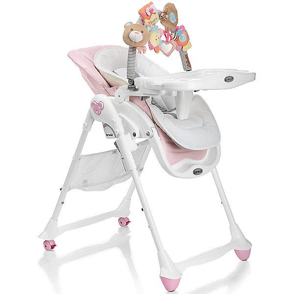 Стульчик для кормления B-Fun, Brevi, розовыйСтульчики для кормления с 0 месяцев<br>B-Fun, Brevi (брэви) – удобный стульчик для кормления ребенка. Особенность этого стульчика в трех положениях наклона спинки, включая горизонтальное. Благодаря этому, стульчик можно использовать в качестве шезлонга уже с рождения. Имеет 3 положения регулировки подножки, съемный поддон с двумя углублениями для стаканов или бутылочек, который легко снимается и крепится сзади стульчика, регулируемые по росту ребенка ремни безопасности.  Задние колеса с фиксаторами для удобства перемещения по квартире.  Стульчик изготовлен из натуральных тканей, легко моется и занимает мало места в собранном виде.  В комплекте имеется съемная регулируемая дуга с игрушками: лодочка, автобус с кроликом, издающим звуки, домик с погремушкой, полоска со звуковым эффектом. Такой стульчик станет лучшим выбором для малыша.<br>Особенности и преимущества:<br>-стульчик можно использовать с рождения<br>-3 положения спинки<br>-углубления для стаканов и бутылочек<br>-дуга с игрушками для развития малыша<br>Размеры: 90x82x62 см<br>Вес: 11,8 кг<br>Вы можете приобрести стульчик для кормления B-Fun в нашем интернет-магазине.<br><br>Ширина мм: 900<br>Глубина мм: 620<br>Высота мм: 530<br>Вес г: 11800<br>Возраст от месяцев: 0<br>Возраст до месяцев: 36<br>Пол: Женский<br>Возраст: Детский<br>SKU: 4902079
