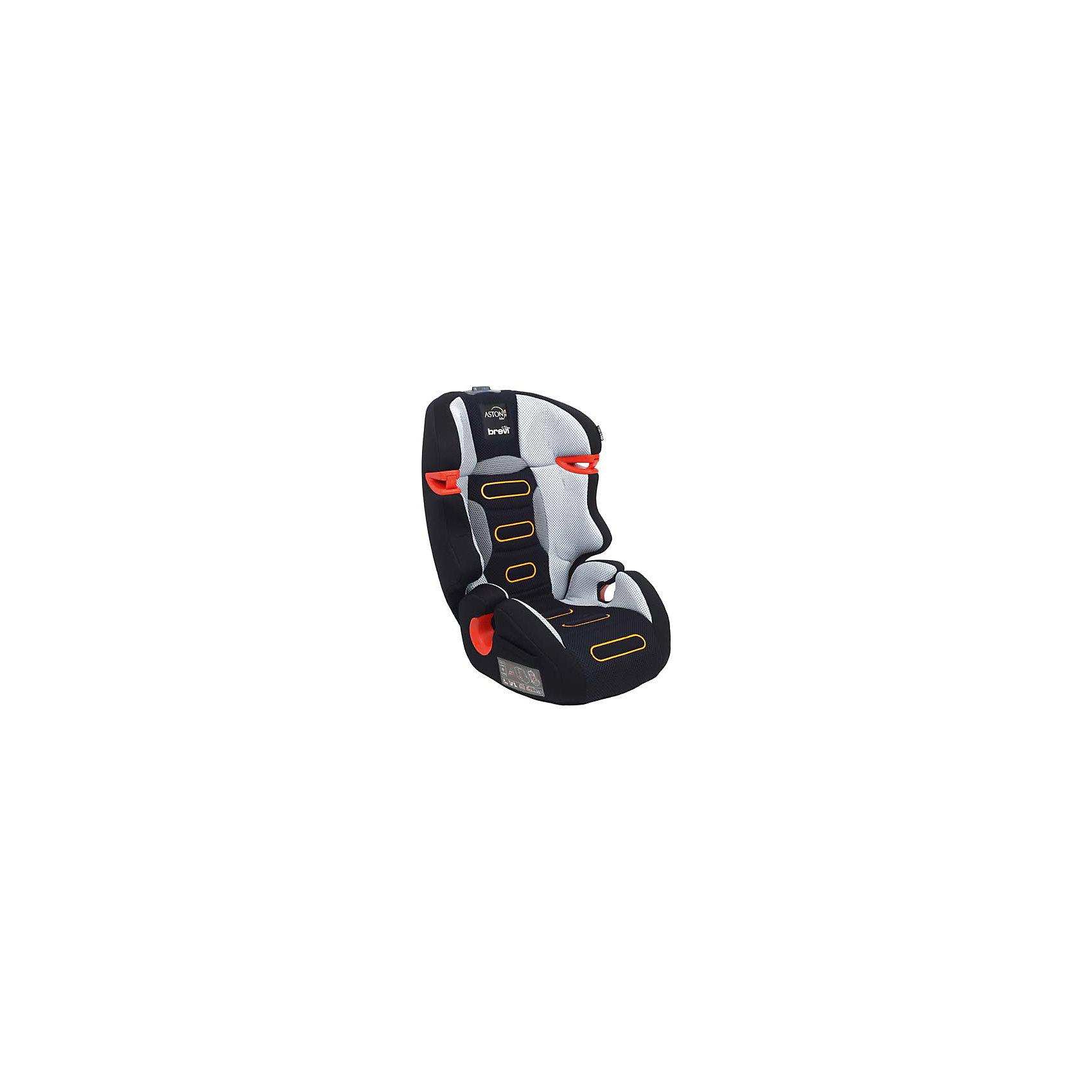 Автокресло ASTON B.Fix 15-36 кг., Brevi, серый/черный