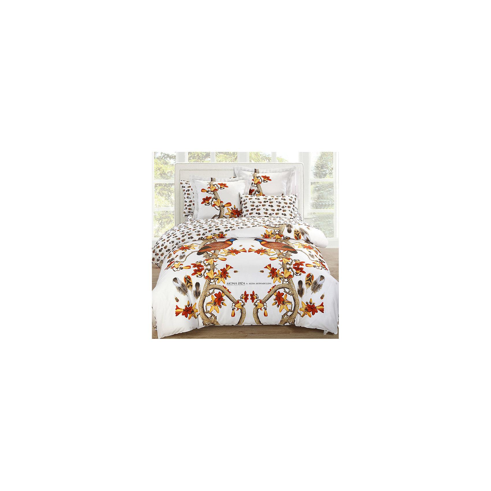 Постельное белье Pheasant, 2-спальный, 50*70 и 70*70, сатин панно, Mona LizaДомашний текстиль<br>Комплект двуспального постельного белья  Pheasant  торговой марки  Mona Liza от известного дизайнера Алены Ахмадулиной  привнесет в Вашу спальню сочные, насыщенные оттенки южной осени. Постельное белье  Pheasant  сшито из сатина — качественной хлопковой ткани, изделия из такой ткани не теряют своей яркость после стирок в теплой воде, к тому же она отлично дышит и обладает гипоаллергенными свойствами. Сама ткань прочная и приятная на ощупь, поэтому спать на таком белье очень комфортно. <br><br>Дополнительная информация: <br><br> - ткань: сатин 100% хлопок.<br> - размеры 2-спального комплекта: пододеяльник 175*210,<br> - простыня 215*240,<br> - наволочки 50*70 2 шт; 70*70 2 шт<br>- комплектация: пододеяльник, простыня, наволочка - 4 шт.<br>- страна бренда: Россия<br>- страна производитель: Россия<br><br>Комплект постельного белья  Pheasant торговой марки  Мона Лиза можно купить в нашем интернет-магазине.<br><br>Ширина мм: 270<br>Глубина мм: 90<br>Высота мм: 370<br>Вес г: 3000<br>Возраст от месяцев: 84<br>Возраст до месяцев: 1188<br>Пол: Унисекс<br>Возраст: Детский<br>SKU: 4902125