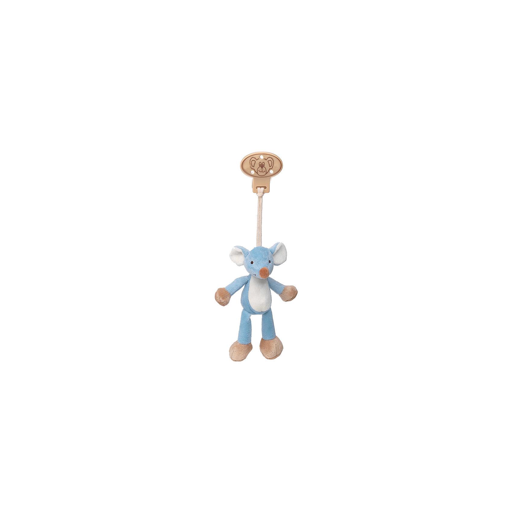 Клипса с игрушкой Мышь, Динглисар, TeddykompanietПустышки и аксессуары<br>Клипса с игрушкой Мышь, Динглисар, Teddykompaniet (Тэдди и компания) – дружелюбный мышонок развеселит малыша и не позволит ему скучать.<br>Клипса с мягкой игрушкой Мышь от шведской компании Teddykompaniet очаровательна и неповторима. Милый мышонок станет первым другом вашего малыша и всегда будет рядом. С помощью надежной безопасной пластиковой клипсы игрушку можно прикрепить к кроватке, коляске, автокреслу и одежде или постельному белью. Игрушка изготовлена из мягкого безворсового велюра, грязе- и пылеотталкивающего, соответствует европейским и российским стандартам качества, что позволяет играть с ней детям, склонным к аллергии.<br><br>Дополнительная информация:<br><br>- Размер: 16 см.<br>- Материал: нежный безворсовый велюр, пластик<br>- Уход: ручная стирка<br><br>Клипсу с игрушкой Мышь, Динглисар, Teddykompaniet (Тэдди и компания) можно купить в нашем интернет-магазине.<br><br>Ширина мм: 50<br>Глубина мм: 100<br>Высота мм: 100<br>Вес г: 180<br>Возраст от месяцев: 0<br>Возраст до месяцев: 12<br>Пол: Унисекс<br>Возраст: Детский<br>SKU: 4902219
