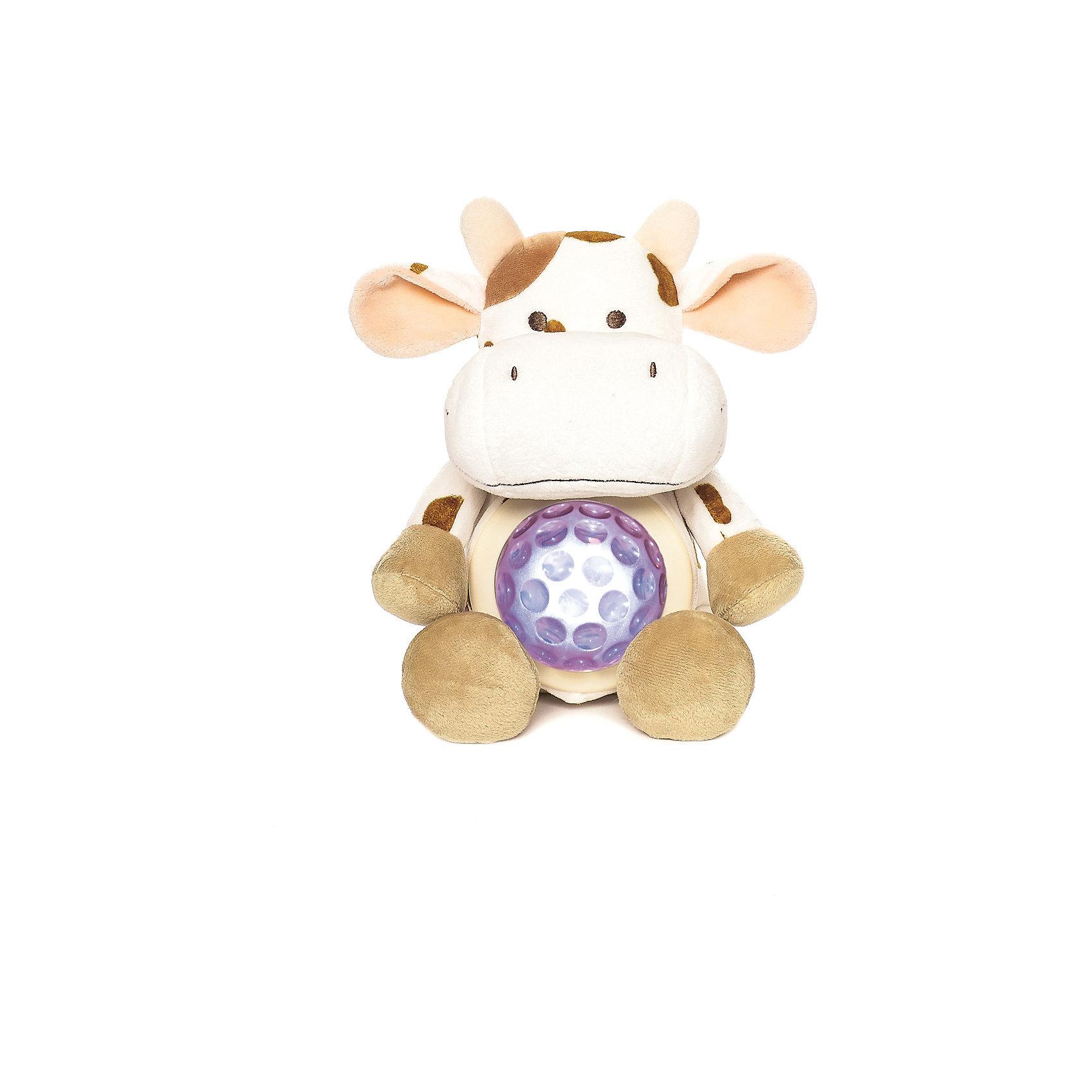 Ночник Корова, Динглисар, TeddykompanietНочник Корова, Динглисар, Teddykompaniet (Тэдди и компания) - подарит уют и спокойствие вашему малышу.<br>Ночник в виде милой улыбающейся коровы создаст спокойную атмосферу, идеальную для того, чтобы малыш мог легко и быстро заснуть. Ночник проецирует звездное небо и работает в двух режимах. В первом режиме мягкий прозрачный свет, во втором режиме – меняет цвета (3 цвета). Чтобы активировать работу ночника, необходимо нажать на животик коровы. Продукция соответствует европейским и российским стандартам качества.<br><br>Дополнительная информация:<br><br>- Размер: 23 см.<br>- Материал: текстиль<br>- Предусмотрено автоматическое отключение после 10 мин непрерывной работы<br>- Батарейки: 3 типа АА (в комплект не входят)<br><br>Ночник Корова, Динглисар, Teddykompaniet (Тэдди и компания) можно купить в нашем интернет-магазине.<br><br>Ширина мм: 250<br>Глубина мм: 150<br>Высота мм: 100<br>Вес г: 220<br>Возраст от месяцев: 0<br>Возраст до месяцев: 36<br>Пол: Унисекс<br>Возраст: Детский<br>SKU: 4902223