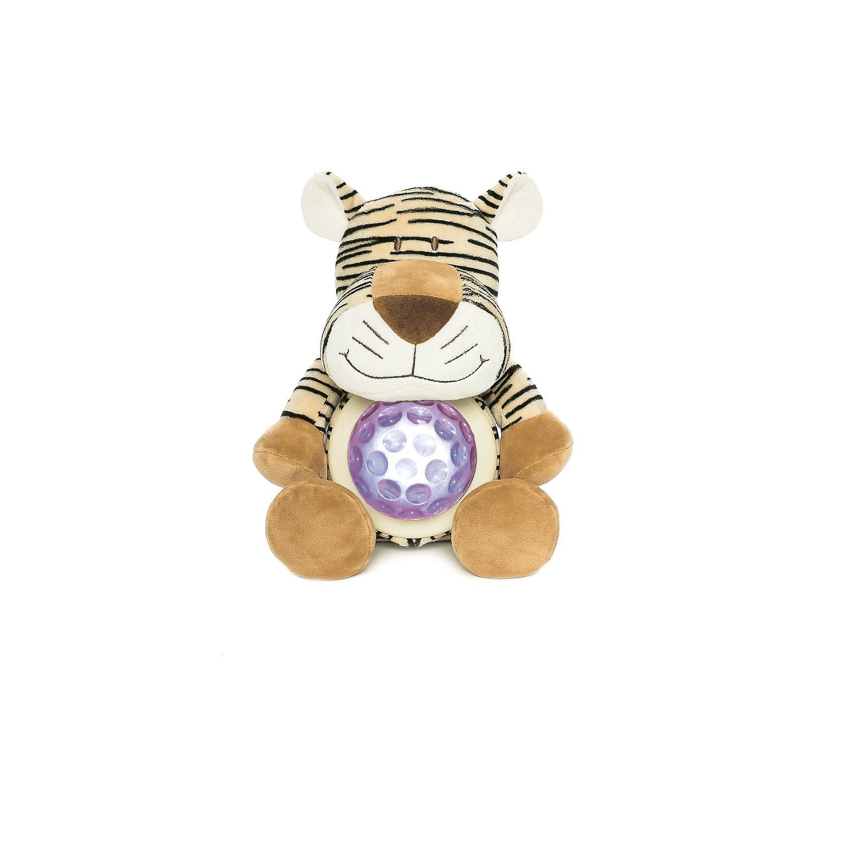 Ночник Тигр, Динглисар, TeddykompanietНочники и проекторы<br>Ночник Тигр, Динглисар, Teddykompaniet (Тэдди и компания) - подарит уют и спокойствие вашему малышу.<br>Ночник в виде милого улыбающегося тигренка создаст спокойную атмосферу, идеальную для того, чтобы малыш мог легко и быстро заснуть. Ночник проецирует звездное небо и работает в двух режимах. В первом режиме мягкий прозрачный свет, во втором режиме – меняет цвета (3 цвета). Чтобы активировать работу ночника, необходимо нажать на животик тигра. Продукция соответствует европейским и российским стандартам качества.<br><br>Дополнительная информация:<br><br>- Размер: 23 см.<br>- Материал: текстиль<br>- Предусмотрено автоматическое отключение после 10 мин непрерывной работы<br>- Батарейки: 3 типа АА (в комплект не входят)<br><br>Ночник Тигр, Динглисар, Teddykompaniet (Тэдди и компания) можно купить в нашем интернет-магазине.<br><br>Ширина мм: 250<br>Глубина мм: 150<br>Высота мм: 100<br>Вес г: 220<br>Возраст от месяцев: 0<br>Возраст до месяцев: 36<br>Пол: Унисекс<br>Возраст: Детский<br>SKU: 4902226