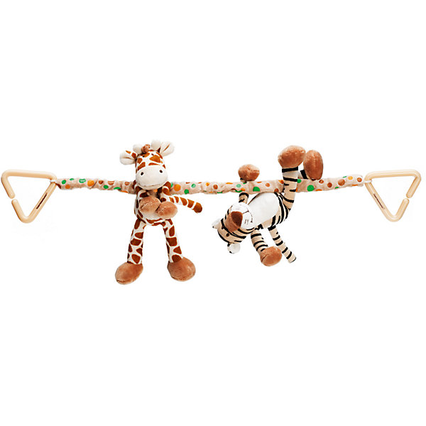 Растяжка на коляску  Жираф и Тигр, Динглисар, TeddykompanietАксессуары для колясок<br>Растяжка на коляску  Жираф и Тигр, Динглисар, Teddykompaniet (Тэдди и компания) <br>Растяжка на коляску Жираф и Тигр от шведской компании Teddykompaniet обязательно заинтересует вашего малыша. Растяжка закрепляется  на коляску, автокресло или шезлонг при помощи двух карабинов. На текстильной ленте закреплены мягкие игрушки-подвески, выполненные из приятного на ощупь материала, жираф и тигрёнок. Растяжка на коляску полностью соответствует европейским и российским стандартам качества, что позволяет играть с ней детям, склонным к аллергии.<br><br>Дополнительная информация:<br><br>- Размер: 40 см.<br>- Материал: текстиль<br><br>Растяжку на коляску  Жираф и Тигр, Динглисар, Teddykompaniet (Тэдди и компания) можно купить в нашем интернет-магазине.<br><br>Ширина мм: 50<br>Глубина мм: 100<br>Высота мм: 100<br>Вес г: 400<br>Возраст от месяцев: 0<br>Возраст до месяцев: 12<br>Пол: Унисекс<br>Возраст: Детский<br>SKU: 4902234