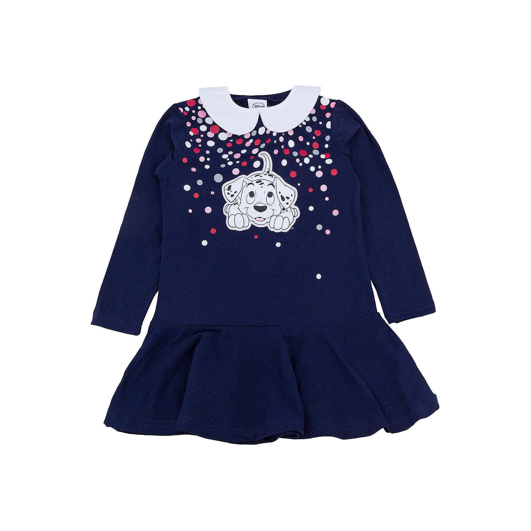 Платье для девочки PlayTodayПлатья и сарафаны<br>Платье для девочки от известного бренда PlayToday.<br>Мягкое хлопковое платье с длинными рукавами. Украшено лицензионным диснеевским принтом с забавным долматинцем.  Рукава на резинке, есть съемный белый воротничок.<br>Состав:<br>95% хлопок, 5% эластан<br><br>Ширина мм: 236<br>Глубина мм: 16<br>Высота мм: 184<br>Вес г: 177<br>Цвет: разноцветный<br>Возраст от месяцев: 24<br>Возраст до месяцев: 36<br>Пол: Женский<br>Возраст: Детский<br>Размер: 98,110,116,122,104,128<br>SKU: 4903214