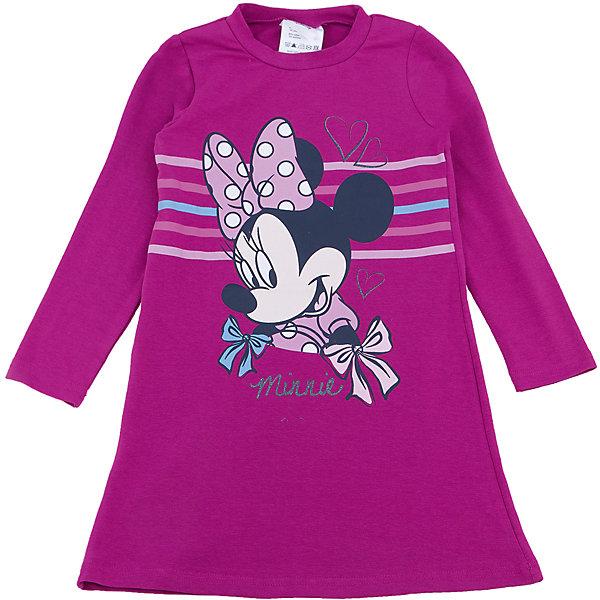 Платье для девочки PlayTodayПлатья и сарафаны<br>Платье для девочки от известного бренда PlayToday.<br>Стильное хлопковое платье с длинными рукавами. Украшено лицензионным принтом с Минни-Маус.<br>Состав:<br>95% хлопок, 5% эластан<br>Ширина мм: 236; Глубина мм: 16; Высота мм: 184; Вес г: 177; Цвет: розовый; Возраст от месяцев: 24; Возраст до месяцев: 36; Пол: Женский; Возраст: Детский; Размер: 110,128,98,104,122,116; SKU: 4903235;