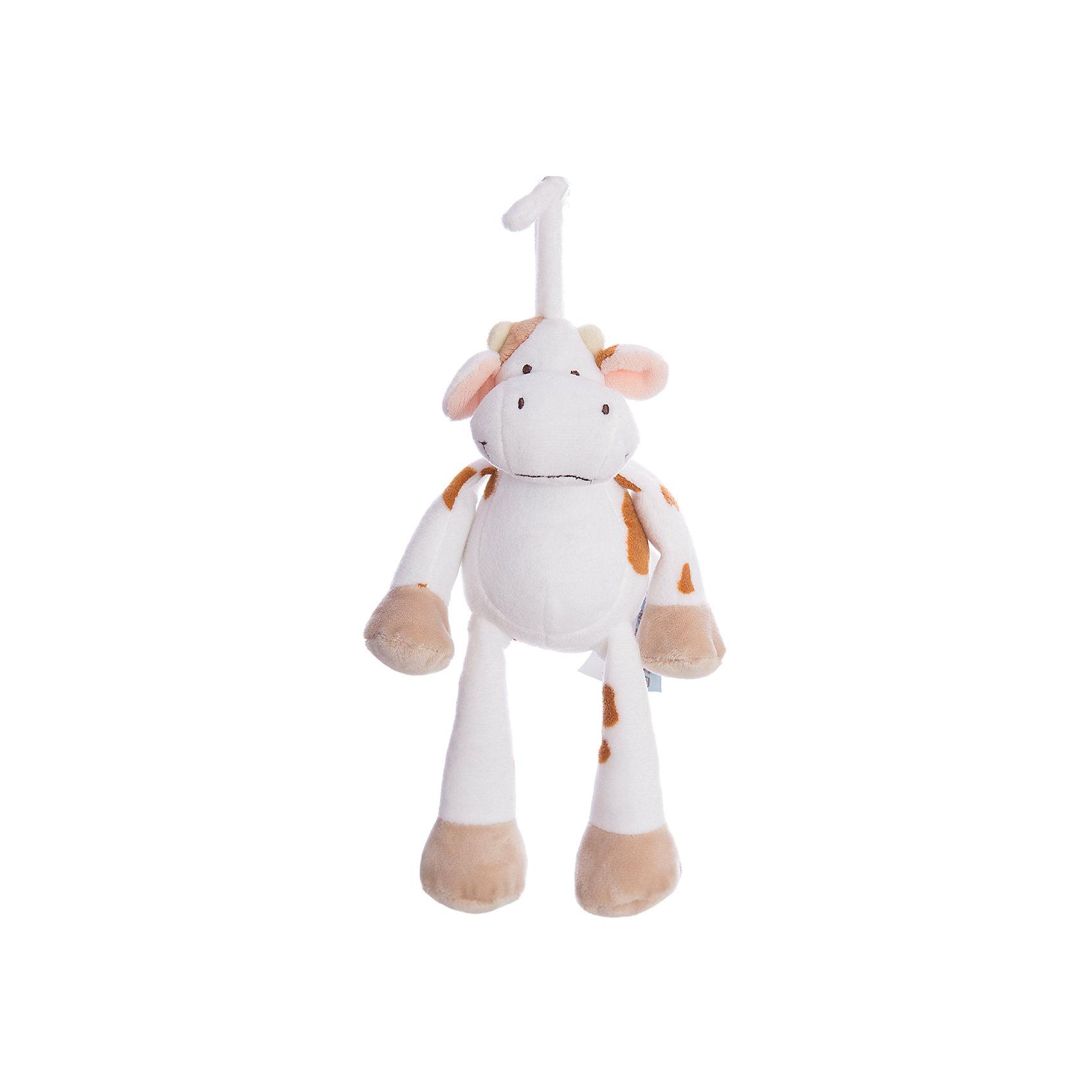 Музыкальная игрушка Корова, Динглисар, TeddykompanietДетские музыкальные инструменты<br>Характеристики мягкой игрушки Teddykompaniet:<br><br>• размер коровы: 25 см;<br>• серия: Динглисар;<br>• активация музыкальных эффектов: потянуть игрушку за хвост;<br>• материал: плюш, синтетический наполнитель.<br><br>Игрушка-подвеска с музыкальным мобилем развивает тактильное восприятие малыша, а также слуховое и зрительное восприятие. Корова Teddykompaniet выполнена из мягкого гипоаллергенного материала, внутри мягкий наполнитель.  <br><br>Музыкальную игрушку Корова, Динглисар, Teddykompaniet можно купить в нашем интернет-магазине.<br><br>Ширина мм: 250<br>Глубина мм: 250<br>Высота мм: 100<br>Вес г: 250<br>Возраст от месяцев: 0<br>Возраст до месяцев: 36<br>Пол: Унисекс<br>Возраст: Детский<br>SKU: 4903931