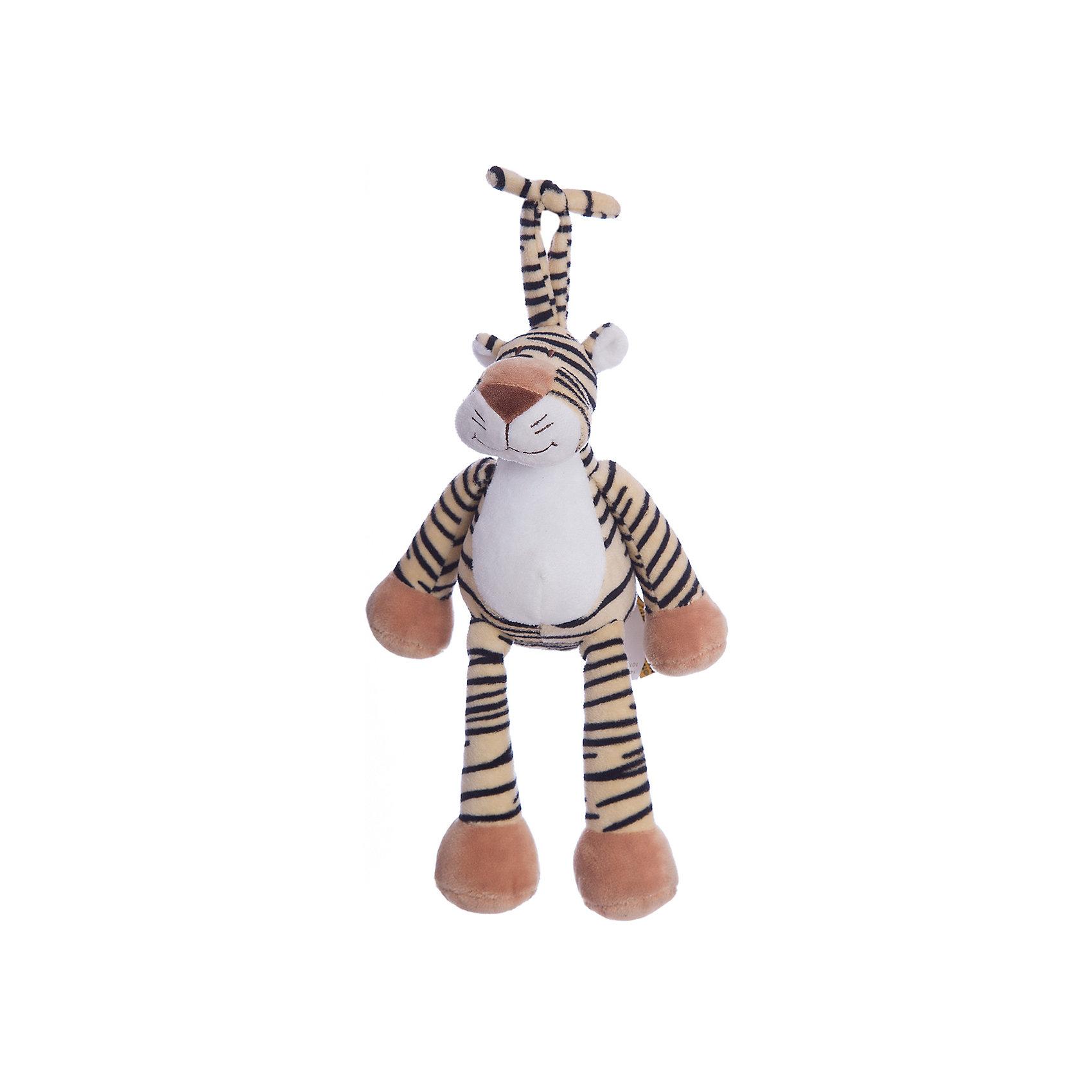 Музыкальная игрушка Тигр, Динглисар, TeddykompanietМузыкальные инструменты и игрушки<br>Характеристики мягкой игрушки Teddykompaniet:<br><br>• размер тигра: 25 см;<br>• серия: Динглисар;<br>• активация музыкальных эффектов: потянуть игрушку за хвост;<br>• материал: плюш, синтетический наполнитель.<br><br>Игрушка-подвеска с музыкальным мобилем развивает тактильное восприятие малыша, а также слуховое и зрительное восприятие. Тигр Teddykompaniet выполнен из мягкого гипоаллергенного материала, внутри мягкий наполнитель.  <br><br>Музыкальную игрушку Тигр, Динглисар, Teddykompaniet можно купить в нашем интернет-магазине.<br><br>Ширина мм: 250<br>Глубина мм: 250<br>Высота мм: 100<br>Вес г: 250<br>Возраст от месяцев: 0<br>Возраст до месяцев: 36<br>Пол: Унисекс<br>Возраст: Детский<br>SKU: 4903933