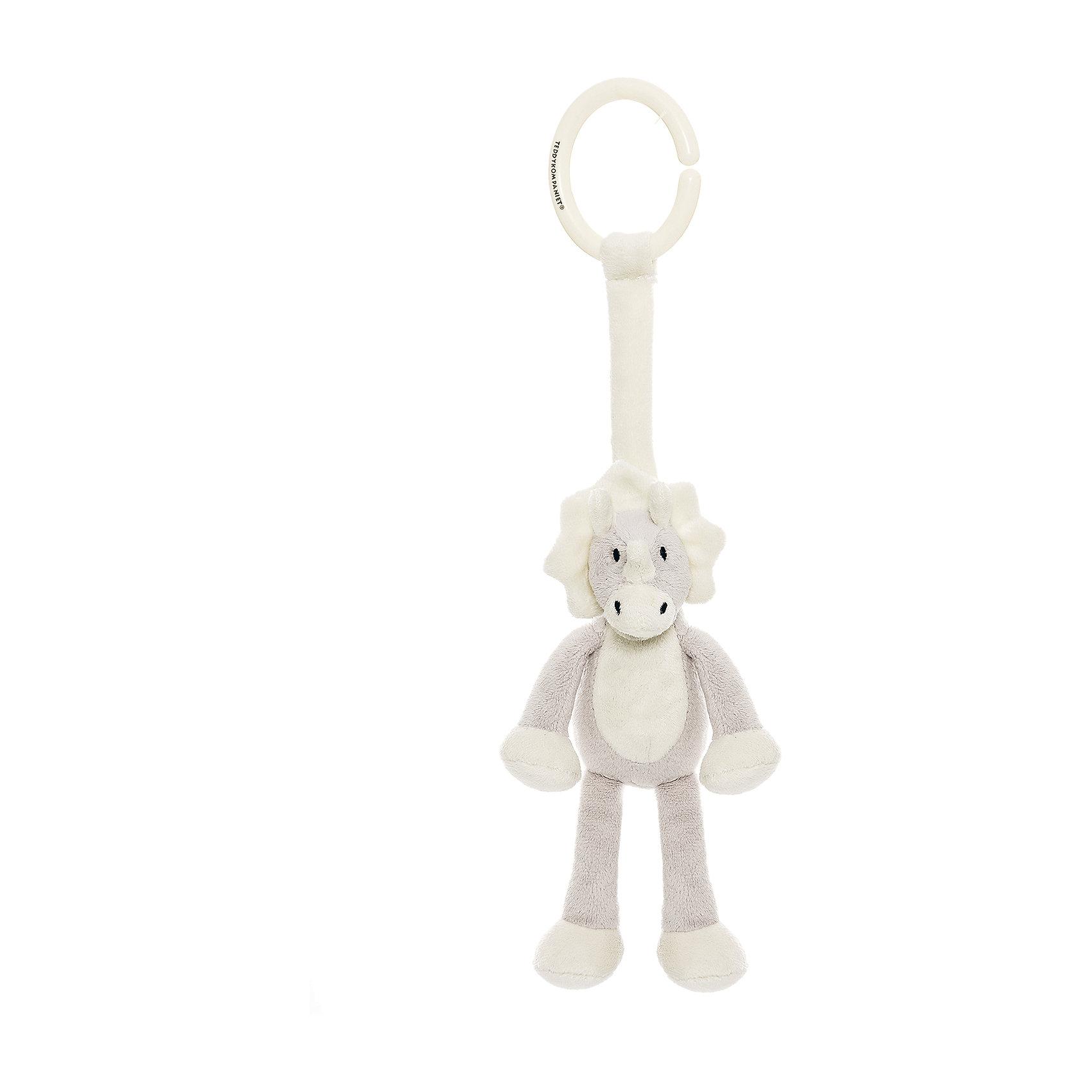 Подвесная игрушка Динозавр, Динглисар, TeddykompanietХарактеристики игрушки:<br><br>• Предназначение: игрушка-подвеска<br>• Пол: универсальный<br>• Цвет: белый, серый<br>• Материал: текстиль (велюр), пластик<br>• Тип крепления: пластиковое кольцо<br>• Вес: 70 гр.<br>• Размер: 14 см<br><br>Подвесная игрушка Динозавр, Динглисар, Teddykompaniet от щвейцарского производителя выполнена из материалов самого высокого качества. Динозавр предназначен для подвешивания на мобиль, кроватку, коляску, автокресло или стульчик для кормления. Игрушка выполнена из приятного на ощупь материала, что будет способствовать развитию тактильных ощущений. Динозавр легок в уходе: его можно стирать в стиральной машине на щадящем режиме.<br><br>Подвесную игрушку Динозавра, Динглисар, Teddykompaniet можно купить в нашем интернет-магазине.<br><br>Подробнее:<br>Для детей в возрасте: от 0 месяцев и до 3 лет<br>Номер товара: 4903935<br>Страна производитель: Швеция<br><br>Ширина мм: 160<br>Глубина мм: 160<br>Высота мм: 100<br>Вес г: 160<br>Возраст от месяцев: 0<br>Возраст до месяцев: 36<br>Пол: Унисекс<br>Возраст: Детский<br>SKU: 4903935