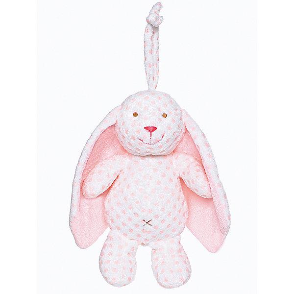Музыкальная игрушка Кролик -  Большие ушки, Тедди бэби, TeddykompanietМягкие игрушки животные<br>Прекрасный подарок новорожденному! У кролика  большие мягкие ушки, которыми хорошо поиграть перед сном. <br>  Если потянуть кролика за хвост, то можно услышать приятную мелодию. Внутри игрушки находится настоящая механическая музыкальная шкатулка. Игрушку можно подвесить на кроватку, коляску, автокресло или дать малышу в руки для изучения и игры.<br><br>Ширина мм: 250<br>Глубина мм: 250<br>Высота мм: 100<br>Вес г: 250<br>Возраст от месяцев: 0<br>Возраст до месяцев: 36<br>Пол: Унисекс<br>Возраст: Детский<br>SKU: 4903943