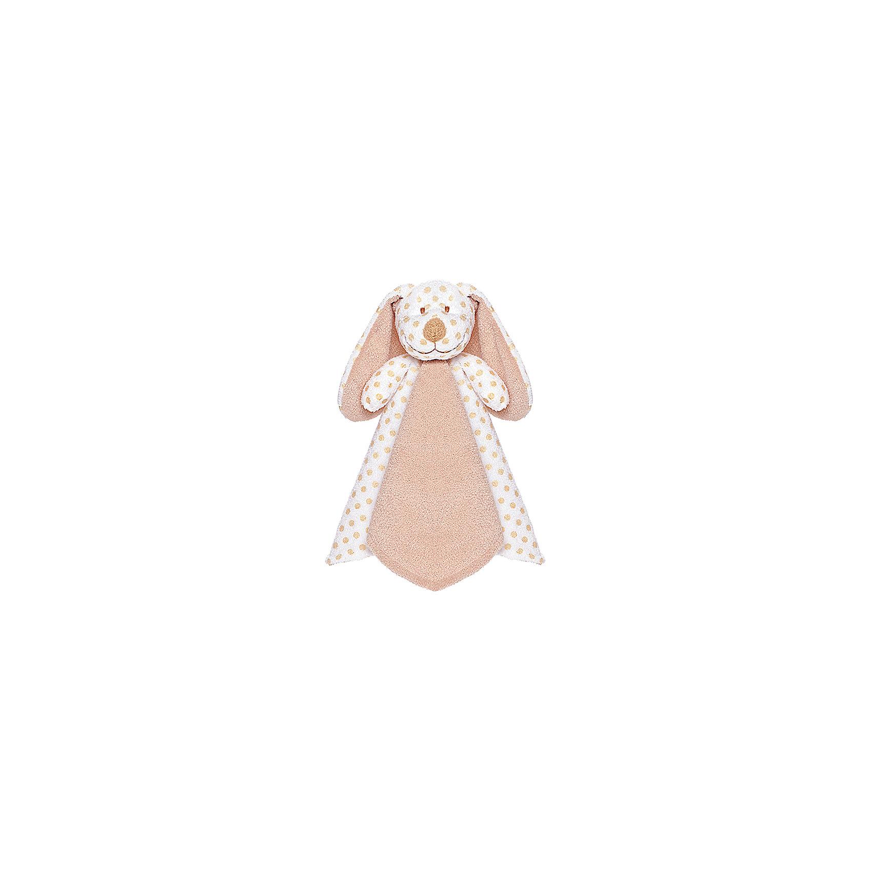 Платочек Собачка -  Большие ушки, Тедди бэби, TeddykompanietИгрушки-платочки<br>Характеристики мягкой игрушки Teddykompaniet: <br><br>• размер платочка: 34х34 см;<br>• материал: 100% хлопок (безворсовый велюр);<br>• серия: Тедди бэби.<br><br>Мягкий платочек с игрушкой-собачкой «Большие ушки» в центре выполнен из гипоаллергенного текстиля. В разложенном виде имеет форму квадрата, мягкая игрушка-собачка находится в центре. В процессе игры с платочком у малыша развивается мелкая моторика пальчиков, тактильное и зрительное восприятие. <br><br>Платочек Собачка - Большие ушки, Тедди бэби, Teddykompaniet<br><br>Ширина мм: 350<br>Глубина мм: 350<br>Высота мм: 100<br>Вес г: 350<br>Возраст от месяцев: 0<br>Возраст до месяцев: 36<br>Пол: Унисекс<br>Возраст: Детский<br>SKU: 4903945