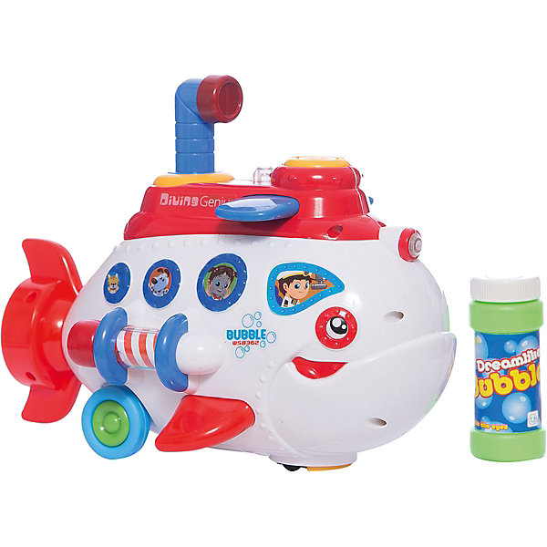 Детская игрушка, пускающая мыльные пузыри СубмаринаМыльные пузыри<br>Детская игрушка, пускающая мыльные пузыри  Субмарина торговой марки Bairun только внешне напоминает подводную лодку.  Плавает она  по суше, устраивая,  по пути фееричное шоу с использованием мыльных пузырей и веселой музыки. Дорогу впереди лодке освещает прожектор. Субмарина с легкостью обходит препятствия и отпугивает акул своими музыкальными способностями. Для начала запуска пузырей, с помощью прилагаемой воронки влейте в специальный отсек субмарины мыльный раствор. И наслаждайтесь шоу мыльных пузырей !<br>В процессе игры у Вашего малыша вырабатывается ловкость и слаженность движений рук, сноровка и координация, развивается мелкая моторика пальцев рук, двигательная активность, развивается детская фантазия, речь и мышление.<br><br>Дополнительная информация: <br><br>- возраст: от 3 лет<br>- пол: для мальчиков и девочек<br>- комплект: подводная лодка, воронка, баночка с мыльной жидкостью.<br>- наличие батареек: не входят в комплект.<br>- тип батареек: 3 * AA / lr6 1.5v<br>- материал: пластик.<br>- размер игрушки: 17 * 28 * 16 см.<br>- упаковка: картонная коробка блистерного типа.<br><br>Детскую  игрушку, пускающую  мыльные пузыри Субмарина торговой марки  Bairun можно купить в нашем интернет-магазине.<br><br>Ширина мм: 280<br>Глубина мм: 160<br>Высота мм: 170<br>Вес г: 750<br>Возраст от месяцев: 36<br>Возраст до месяцев: 2147483647<br>Пол: Унисекс<br>Возраст: Детский<br>SKU: 4904800