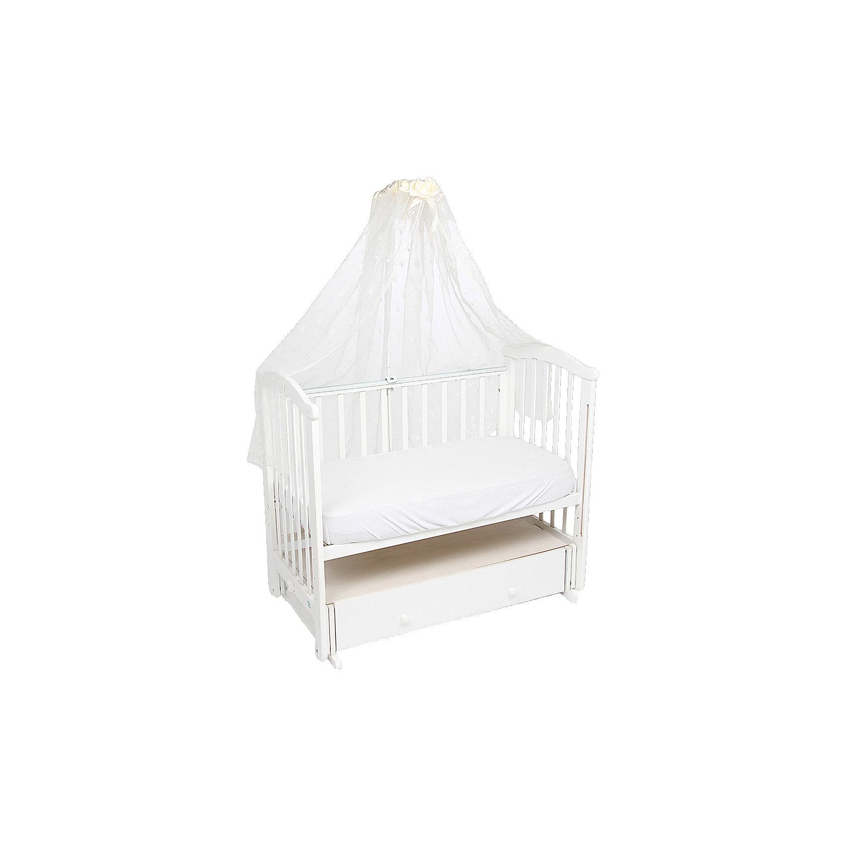 Балдахин Leader kids, молочныйПостельное белье в кроватку новорождённого<br>Балдахин Leader kids, молочный предназначен для создания уютной атмосферы во время сна ребенка в кроватке. Защищает ребенка от насекомых. Балдахин изготовлен из полиэстера высокого качества с элементами из хлопка. Изделие легкое в уходе, разрешается стирка и глажение.<br>Балдахин в кроватку, Leader kids, молочный обеспечит ребенку крепкий и здоровый. Держатель для балдахина не входит в комплект.<br><br>Дополнительная информация:<br><br>- Предназначение: для детской кроватки<br>- Материал: полиэстер, хлопок<br>- Пол: для девочки/для мальчика<br>- Цвет: молочный<br>- Размеры (Д*Ш*В): 35*25*2 см<br>- Вес: 300 г<br>- Особенности ухода: разрешается стирка при температуре не более 40 градусов<br><br>Подробнее:<br><br>• Для детей в возрасте от 0 месяцев и до 3 лет<br>• Страна производитель: Россия<br>• Торговый бренд: Leader kids<br><br>Балдахин Leader kids, молочный можно купить в нашем интернет-магазине.<br><br>Ширина мм: 350<br>Глубина мм: 250<br>Высота мм: 20<br>Вес г: 2000<br>Возраст от месяцев: 0<br>Возраст до месяцев: 36<br>Пол: Унисекс<br>Возраст: Детский<br>SKU: 4904855