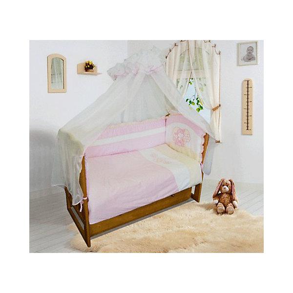 Постельное белье Овечка 7 пред., Soni kids, горошки розовыйПостельное белье в кроватку новорождённого<br>Нежный комплект детского постельного белья обязательно понравится Вашему малышу! <br><br><br> Дополнительная информация:<br><br>- Размеры: <br> Одеяло 140х110 см.<br> Пододеяльника 142х112 см.<br> Простынке на резинке 150х90 см.<br> Подушка 40х60 см.<br> Наволочка 40х60 см. <br> Вуаль-балдахин 165х420 см.<br>- Орнамент: розовый горошек.<br>- Возраст: до 3 лет.<br>- Материал: 100% хлопок.<br>- Размер упаковки: 25х60х45 см.<br>- Вес в упаковке: 1200 г.<br><br>Купить постельное белье Овечка от Soni kids можно в нашем магазине.<br><br>Ширина мм: 250<br>Глубина мм: 600<br>Высота мм: 450<br>Вес г: 1200<br>Возраст от месяцев: 0<br>Возраст до месяцев: 36<br>Пол: Женский<br>Возраст: Детский<br>SKU: 4905941