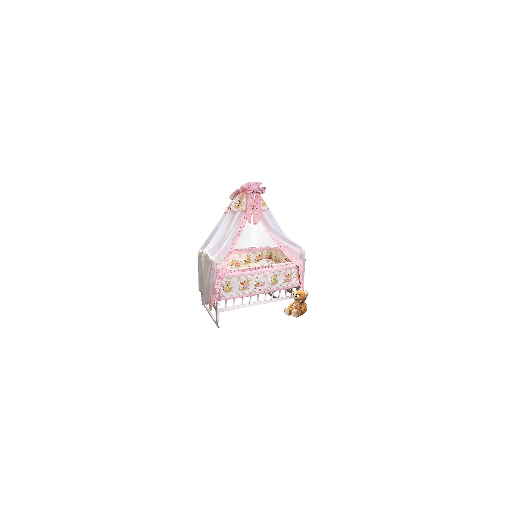 Постельное белье Зайчик-садовод 7 пред., Soni kids, розовый на медиумеПостельное бельё<br>Нежный комплект детского постельного белья состоящий из семи предметов.<br><br>Дополнительная информация:<br><br>- Размеры: <br> Одеяло 140х110 см.<br> Пододеяльника 142х112 см.<br> Бортик на всю кроватку.<br> Простынке на резинке 150х90 см.<br> Подушка 40х60 см.<br> Наволочка 40х60 см. <br> Вуаль-балдахин 165х420 см.<br> ЧЕХЛЫ не съемные.<br>- Возраст: до 3 лет.<br>- Состав: 100% высококачественный хлопок.<br>- Материал: поплин.<br>- Наполнитель: холлофайбер.<br>- Цвет: розовый.<br>- Размер упаковки: 25х60х45 см.<br>- Вес в упаковке: 1200 г.<br><br>Купить постельное белье Зайчик-садовод розовый на медиуме, от Soni kids можно в нашем магазине.<br><br>Ширина мм: 250<br>Глубина мм: 600<br>Высота мм: 450<br>Вес г: 1200<br>Возраст от месяцев: 0<br>Возраст до месяцев: 36<br>Пол: Женский<br>Возраст: Детский<br>SKU: 4905943