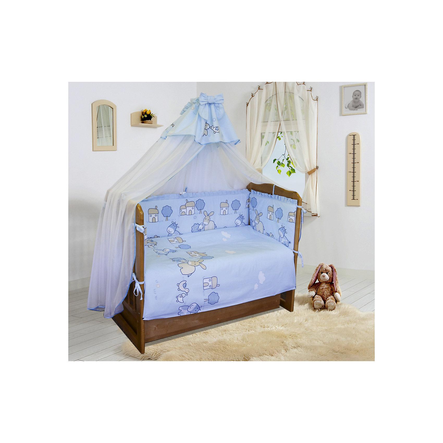 Постельное белье Веселая ферма 6 пред., Soni kids, голубойПостельное бельё<br>Красивый и очень нежный комплект детского постельного белья состоящий из 6 предметов.<br><br>Такой комплект станет прекрасным подарком для родителей и малыша! <br><br><br>Дополнительная информация:<br><br>- Размеры: <br> Одеяло 140х110 см.<br> Пододеяльника 142х112 см.<br> Бортик на всю кроватку.<br> Простынке на резинке 150х90 см.<br> Подушка 40х60 см.<br> Наволочка 40х60 см. <br>- Возраст: до 3 лет.<br>- Состав: 100% высококачественный хлопок.<br>- Материал: поплин.<br>- Наполнитель: импортный гладко окрашенный сатин.<br>- Цвет: голубой.<br>- Размер упаковки: 25х60х45 см.<br>- Вес в упаковке: 1200 г.<br><br>Купить постельное белье Веселая ферма от Soni kids в голубом цвете,  можно в нашем магазине.<br><br>Ширина мм: 250<br>Глубина мм: 600<br>Высота мм: 450<br>Вес г: 1200<br>Возраст от месяцев: 0<br>Возраст до месяцев: 36<br>Пол: Мужской<br>Возраст: Детский<br>SKU: 4905944