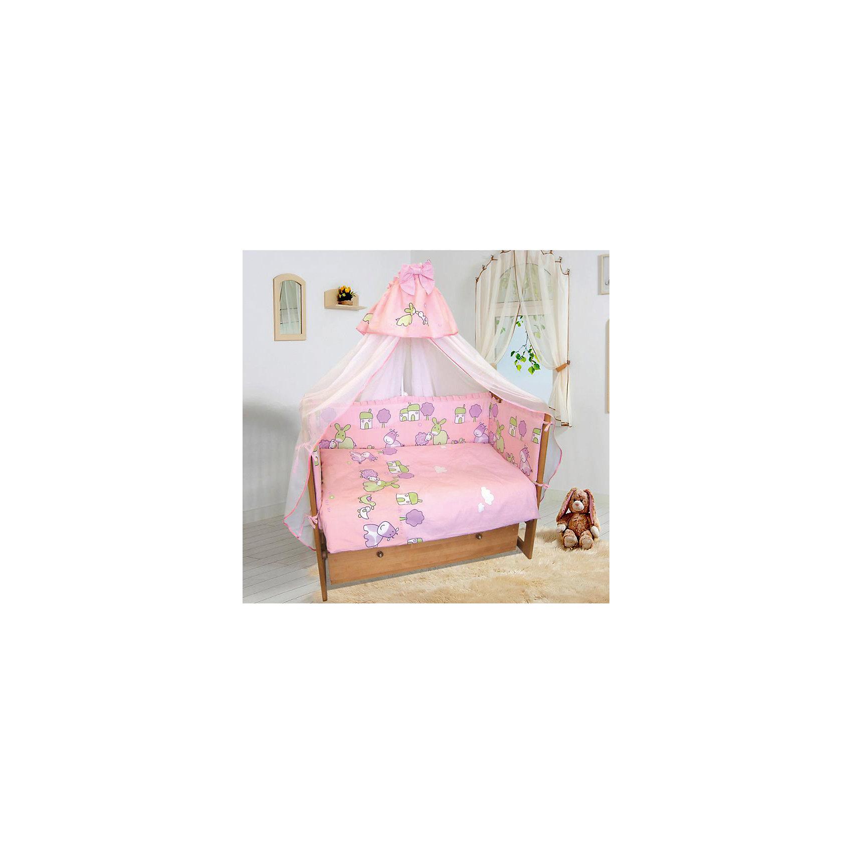 Постельное белье Веселая ферма 6 пред., Soni kids, розовыйКрасивый и очень нежный комплект детского постельного белья состоящий из 6 предметов.<br><br>Такой комплект станет прекрасным подарком для родителей и малыша! <br><br><br>Дополнительная информация:<br><br>- Размеры: <br> Одеяло 140х110 см.<br> Пододеяльника 142х112 см.<br> Бортик на всю кроватку.<br> Простынке на резинке 150х90 см.<br> Подушка 40х60 см.<br> Наволочка 40х60 см. <br>- Возраст: до 3 лет.<br>- Состав: 100% высококачественный хлопок.<br>- Материал: поплин.<br>- Наполнитель: импортный гладко окрашенный сатин.<br>- Цвет: розовый.<br>- Размер упаковки: 25х60х45 см.<br>- Вес в упаковке: 1200 г.<br><br>Купить постельное белье Веселая ферма от Soni kids в розовом цвете,  можно в нашем магазине.<br><br>Ширина мм: 250<br>Глубина мм: 600<br>Высота мм: 450<br>Вес г: 1200<br>Возраст от месяцев: 0<br>Возраст до месяцев: 36<br>Пол: Женский<br>Возраст: Детский<br>SKU: 4905945