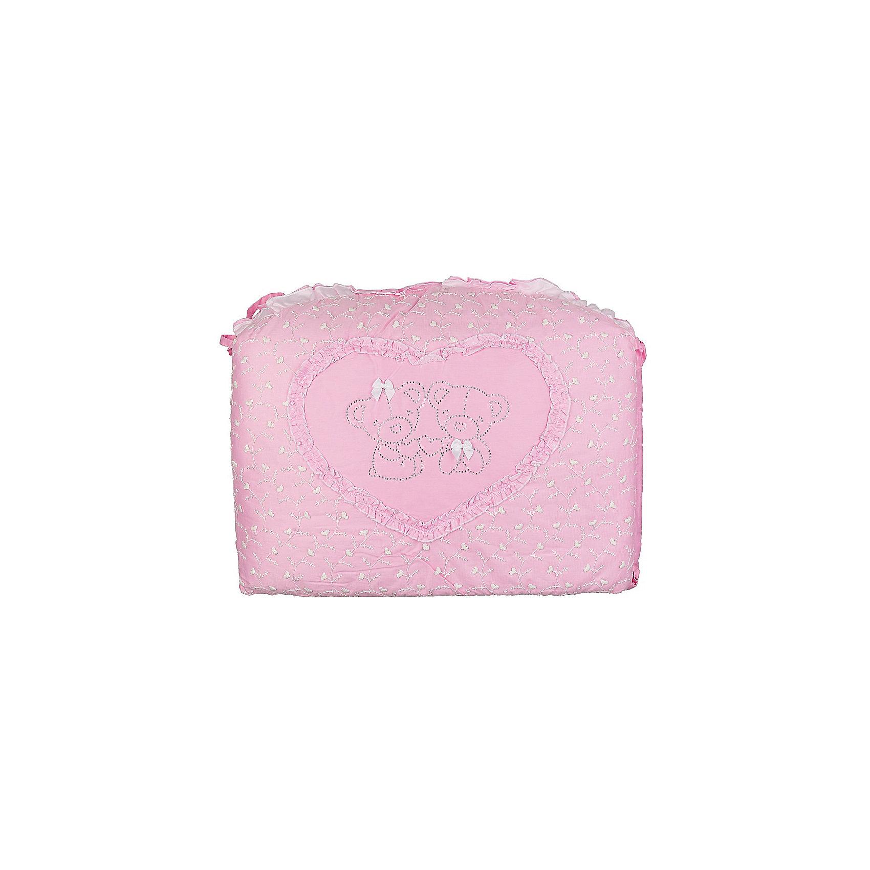 Постельное белье НАРЯДНЫЙ 7 пред., Soni kids, розовыйПостельное бельё<br>Нежный комплект детского постельного белья состоящий из семи предметов.<br>Пусть Ваш ребенок с удовольствием окунется в сказку!<br><br>Дополнительная информация:<br><br>- Размеры: <br> Одеяло 140х110 см.<br> Пододеяльника 142х112 см.<br> Бортик на всю кроватку 360х44 см.<br> Простынке на резинке 150х90 см.<br> Подушка 40х60 см.<br> Наволочка 40х60 см. <br> Вуаль-балдахин 165х420 см.<br>- Возраст: до 3 лет.<br>- Состав: 100% высококачественный хлопок.<br>- Материал: сатин.<br>- Цвет: розовый.<br>- Размер упаковки: 25х60х45 см.<br>- Вес в упаковке: 1200 г.<br><br>Купить постельное белье НАРЯДНЫЙ в розовом цвете, от Soni kids можно в нашем магазине.<br><br>Ширина мм: 250<br>Глубина мм: 600<br>Высота мм: 450<br>Вес г: 1200<br>Возраст от месяцев: 0<br>Возраст до месяцев: 36<br>Пол: Женский<br>Возраст: Детский<br>SKU: 4905951