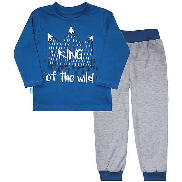 Пижама  для мальчика KotMarKotПижамы и сорочки<br>Характеристики товара:<br><br>• цвет: синий<br>• комплектация: лонгслив и брюки<br>• состав ткани: 100% хлопок<br>• сезон: круглый год<br>• длинные рукава<br>• пояс: резинка<br>• страна бренда: Россия<br>• страна изготовитель: Россия<br><br>Детская одежда от российского бренда KotMarKot обеспечит ребенку комфорт. Пижама для ребенка сделана из мягкого и дышащего хлопка. Детская пижама комфортно сидит, не вызывает неудобств. Эта детская пижама обеспечит ребенку комфорт во время сна.<br><br>Пижаму KotMarKot (КотМарКот) для мальчика можно купить в нашем интернет-магазине.<br>Ширина мм: 281; Глубина мм: 70; Высота мм: 188; Вес г: 295; Цвет: синий; Возраст от месяцев: 18; Возраст до месяцев: 24; Пол: Мужской; Возраст: Детский; Размер: 92,122,116,110,104,98; SKU: 4906546;