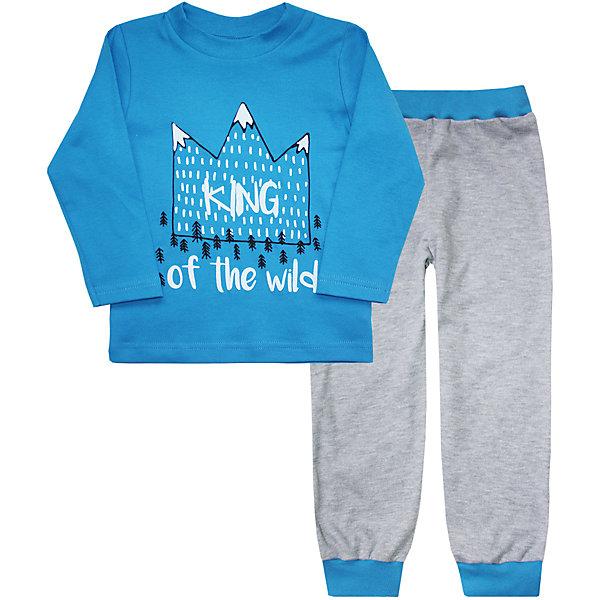 Купить Пижама для мальчика KotMarKot, КотМарКот, Россия, голубой, 92, 122, 116, 110, 104, 98, Мужской