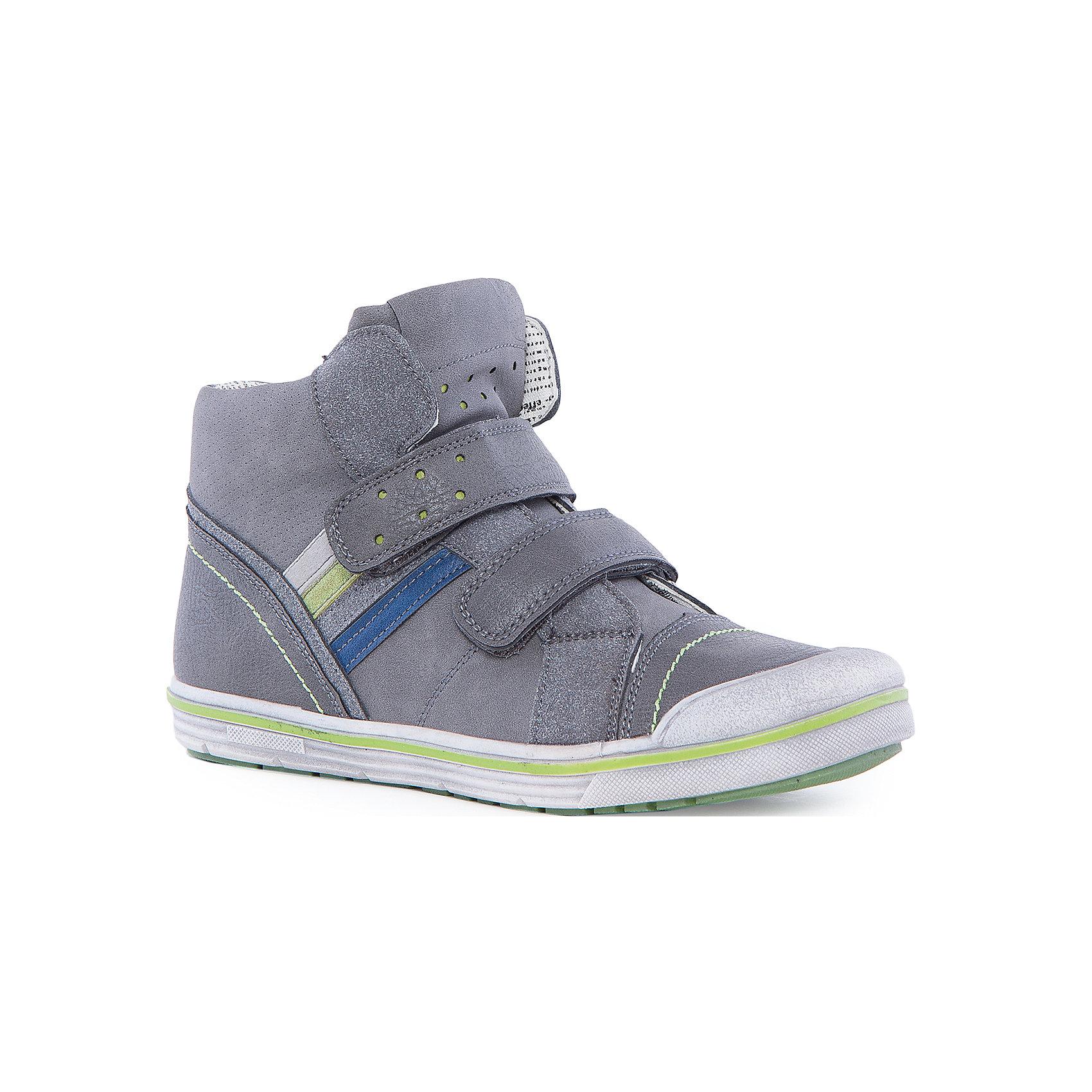 Ботинки для мальчика ScoolБотинки<br>Стильные ботинки от известного бренда Scool выполнены из высококачественных материалов, прекрасно подойдут для прохладной погоды. Модель на высокой гибкой подошве с твердым задником отлично защищает ноги ребенка. Ботинки застегиваются на липучки и молнию. Стильный серый цвет с деталями из темно-синего и темно-салатового цвета в сочетании со стильной подкладкой, декорированной под газету придут по вкусу вашему ребенку.  <br><br>Дополнительная информация:<br>- Высокий задник<br>- Гибкая подошва<br>- Сезон: осень/весна.<br>- Тип застежки: липучка, молния<br>Состав:<br>- Верх: искусственная кожа<br>- Подкладка: текстиль.<br>- Подошва: резина.<br>- Стелька: натуральная кожа.<br>Ботинки для мальчика, Scool, можно купить в нашем магазине.<br>Подробнее:<br>• Для детей в возрасте: от 9 до 14 лет<br>• Номер товара: 4911329<br>Страна производитель: Китай<br><br>Ширина мм: 262<br>Глубина мм: 176<br>Высота мм: 97<br>Вес г: 427<br>Цвет: серый<br>Возраст от месяцев: 156<br>Возраст до месяцев: 168<br>Пол: Мужской<br>Возраст: Детский<br>Размер: 37,34,35,38,33,31,36,32<br>SKU: 4911328