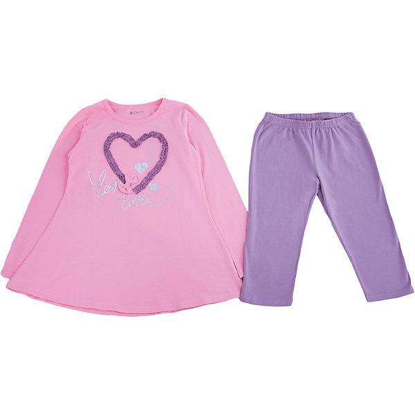 Купить со скидкой Комплект: туника и леггинсы для девочки S'cool