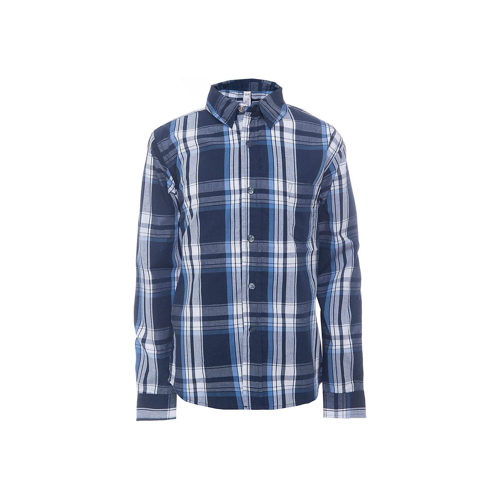 Рубашка для мальчика ScoolРубашка для мальчика от известного бренда Scool. Стильная и удобная рубашка на каждый день, застегивается на синие кнопки, декорированные буквой S. Приятные темно-синие тона клетки прекрасно сочетаются с белым цветом и придет по вкусу вашему ребенку.  Рубашка отлично подойдет как к брюкам, так и к джинсам, ее можно носить поверх футболки не застегивая.<br><br>Дополнительная информация:<br><br>- Рукав: длинный<br>- Силуэт: прямой<br>Состав: 60% хлопок, 40% полиэстер<br><br>Рубашку для мальчиков Scool можно купить в нашем интернет-магазине.<br><br>Подробнее:<br>• Для детей в возрасте: от 9 до 12 лет<br>• Номер товара: 4911367<br>Страна производитель: Китай<br><br>Ширина мм: 174<br>Глубина мм: 10<br>Высота мм: 169<br>Вес г: 157<br>Цвет: разноцветный<br>Возраст от месяцев: 120<br>Возраст до месяцев: 132<br>Пол: Мужской<br>Возраст: Детский<br>Размер: 146,152,140,164,158,134<br>SKU: 4911366