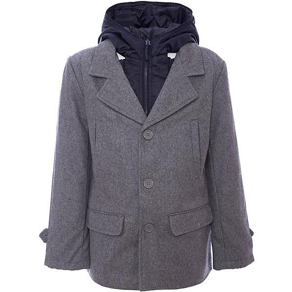 Пальто для мальчика ScoolВерхняя одежда<br>Пальто для мальчика из коллекции «Скорость» от известного бренда Scool. Стильное и удобное  драповое пальто на осень/весну. Приятный цвет серый меланж сочетается со стилем самого пальто и позволяет носить с ним как классические вещи, так и более спортивные, благодаря уникальному сочетанию элементов. Удобство этого пальто заключается в непромокаемой и защищающей от дождя плащевой вставке с капюшоном, которая, при желании, отстегивается. Пальто застегивается на три пуговицы, у пальто четыре кармана. Мягкий материал приятен для носки и защищает от ветра и холода. <br><br>Дополнительная информация:<br>- Отстегивающаяся непромокаемая вставка с капюшоном<br>- Силуэт: прямой<br>- Длина: средняя<br><br>Состав: Верх: 40% шерсть, 60% акрил, Подкладка: 100% полиэстер, Наполнитель: 100% полиэстер, 200 г/м2<br><br>Пальто для мальчика Scool можно купить в нашем интернет-магазине.<br><br>Подробнее:<br>• Для детей в возрасте: от 9 до 13 лет<br>• Номер товара: 4911381<br>Страна производитель: Китай<br><br>Ширина мм: 356<br>Глубина мм: 10<br>Высота мм: 245<br>Вес г: 519<br>Цвет: черный<br>Возраст от месяцев: 144<br>Возраст до месяцев: 156<br>Пол: Мужской<br>Возраст: Детский<br>Размер: 146,140,164,134,152,158<br>SKU: 4911380