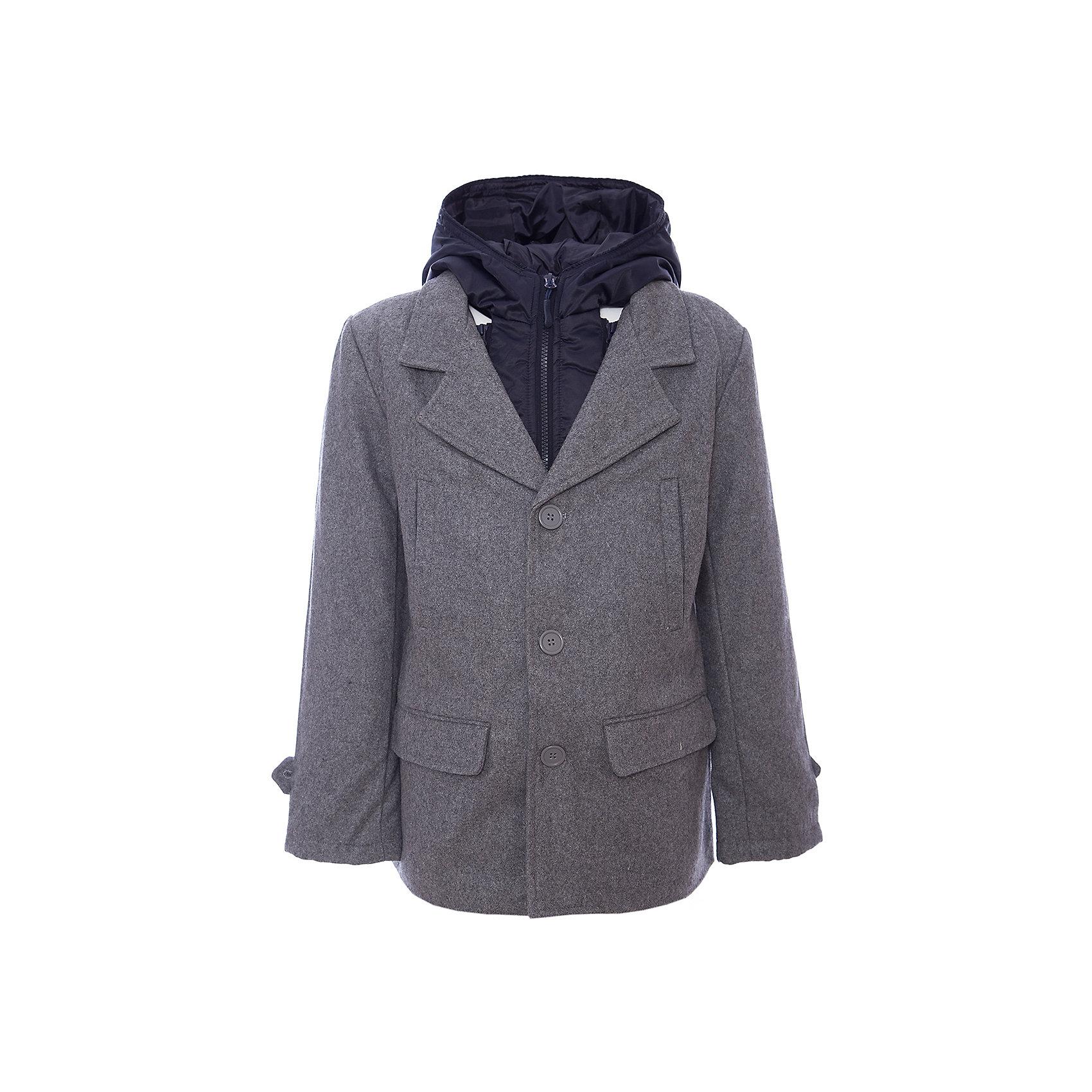 Пальто для мальчика ScoolПальто для мальчика из коллекции «Скорость» от известного бренда Scool. Стильное и удобное  драповое пальто на осень/весну. Приятный цвет серый меланж сочетается со стилем самого пальто и позволяет носить с ним как классические вещи, так и более спортивные, благодаря уникальному сочетанию элементов. Удобство этого пальто заключается в непромокаемой и защищающей от дождя плащевой вставке с капюшоном, которая, при желании, отстегивается. Пальто застегивается на три пуговицы, у пальто четыре кармана. Мягкий материал приятен для носки и защищает от ветра и холода. <br><br>Дополнительная информация:<br>- Отстегивающаяся непромокаемая вставка с капюшоном<br>- Силуэт: прямой<br>- Длина: средняя<br><br>Состав: Верх: 40% шерсть, 60% акрил, Подкладка: 100% полиэстер, Наполнитель: 100% полиэстер, 200 г/м2<br><br>Пальто для мальчика Scool можно купить в нашем интернет-магазине.<br><br>Подробнее:<br>• Для детей в возрасте: от 9 до 13 лет<br>• Номер товара: 4911381<br>Страна производитель: Китай<br><br>Ширина мм: 356<br>Глубина мм: 10<br>Высота мм: 245<br>Вес г: 519<br>Цвет: черный<br>Возраст от месяцев: 144<br>Возраст до месяцев: 156<br>Пол: Мужской<br>Возраст: Детский<br>Размер: 158,134,164,140,146,152<br>SKU: 4911380