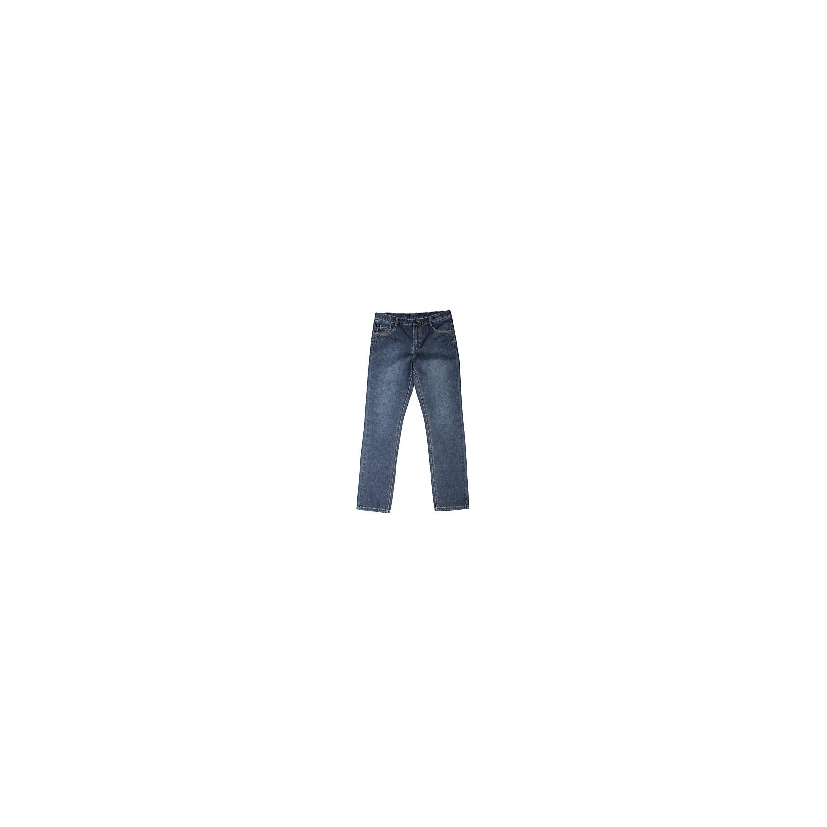 Джинсы для мальчика ScoolДжинсовая одежда<br>Джинсы для мальчика из коллекции «Скорость» от известного бренда Scool. Стильные джинсы на каждый день приятного темно-синего цвета сделаны из хлопка. Джинсы на молнии, имеют классические 5 карманов, прекрасно подойдут как к рубашкам, так и к футболкам.<br><br>Дополнительная информация:<br>- Силуэт прямой <br><br>Состав: 100% хлопок <br><br>Джинсы для мальчиков Scool можно купить в нашем интернет-магазине.<br><br>Подробнее:<br>• Для детей в возрасте: от 9 до 13 лет<br>• Номер товара: 4911444<br>Страна производитель: Китай<br><br>Ширина мм: 215<br>Глубина мм: 88<br>Высота мм: 191<br>Вес г: 336<br>Цвет: синий<br>Возраст от месяцев: 96<br>Возраст до месяцев: 108<br>Пол: Мужской<br>Возраст: Детский<br>Размер: 134,140,164,158,152,146<br>SKU: 4911443
