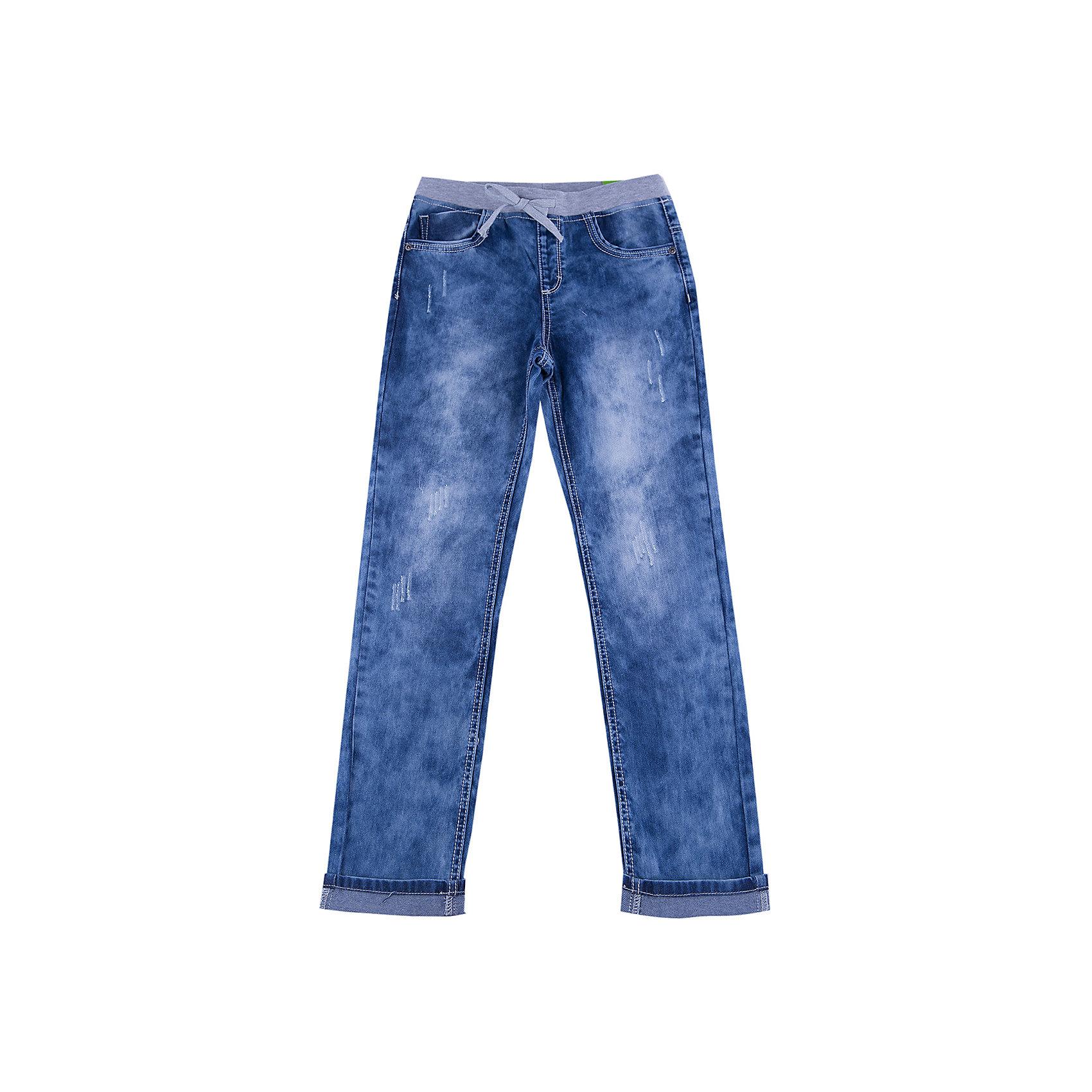 Джинсы для мальчика ScoolДжинсы<br>Джинсы для мальчика из коллекции «Скорость» от известного бренда Scool. Стильные джинсы на каждый день синего «вареного» цвета сделаны из хлопка. Джинсы на серой резинке со шнурком, имеют классические 5 карманов, прекрасно подойдут как к рубашкам, так и к футболкам. Штанины рассчитаны на подворот. Эти джинсыпридут по вкусу вашему чемпиону.<br><br>Дополнительная информация:<br>- Силуэт: зауженный <br><br>Состав: 100% хлопок <br><br>Джинсы для мальчиков Scool можно купить в нашем интернет-магазине.<br><br>Подробнее:<br>• Для детей в возрасте: от 9 до 13 лет<br>• Номер товара: 4911444<br>Страна производитель: Китай<br><br>Ширина мм: 215<br>Глубина мм: 88<br>Высота мм: 191<br>Вес г: 336<br>Цвет: синий<br>Возраст от месяцев: 120<br>Возраст до месяцев: 132<br>Пол: Мужской<br>Возраст: Детский<br>Размер: 146,158,152,164,140,134<br>SKU: 4911450