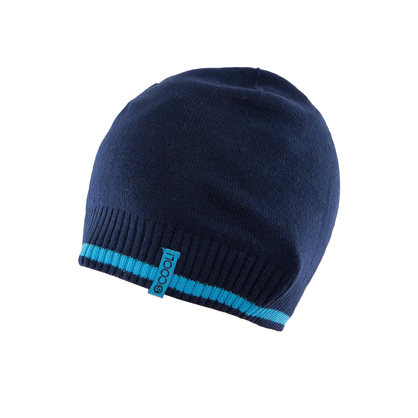 Шапка для мальчика ScoolШапка для мальчика из коллекции «Скорость» от известного бренда Scool. Удобная шапка из вязанного трикотажа на осень/весну. Приятный темно-синий цвет шапки сочетается с голубой полоской на резинке. Мягкий материал приятен для носки и защищает от ветра и холода. Шапка отлично подойдет как к пальто, так и к пуховикам и курткам. <br><br>Дополнительная информация:<br>- Низ шапки на широкой резинке<br><br>Состав: 60% хлопок, 40% акрил<br><br>Шапку для мальчика Scool можно купить в нашем интернет-магазине.<br><br>Подробнее:<br>• Для детей в возрасте: от 8 до 14 лет<br>• Номер товара: 4911517<br>Страна производитель: Китай<br><br>Ширина мм: 89<br>Глубина мм: 117<br>Высота мм: 44<br>Вес г: 155<br>Цвет: разноцветный<br>Возраст от месяцев: 72<br>Возраст до месяцев: 84<br>Пол: Мужской<br>Возраст: Детский<br>Размер: 54,56<br>SKU: 4911516