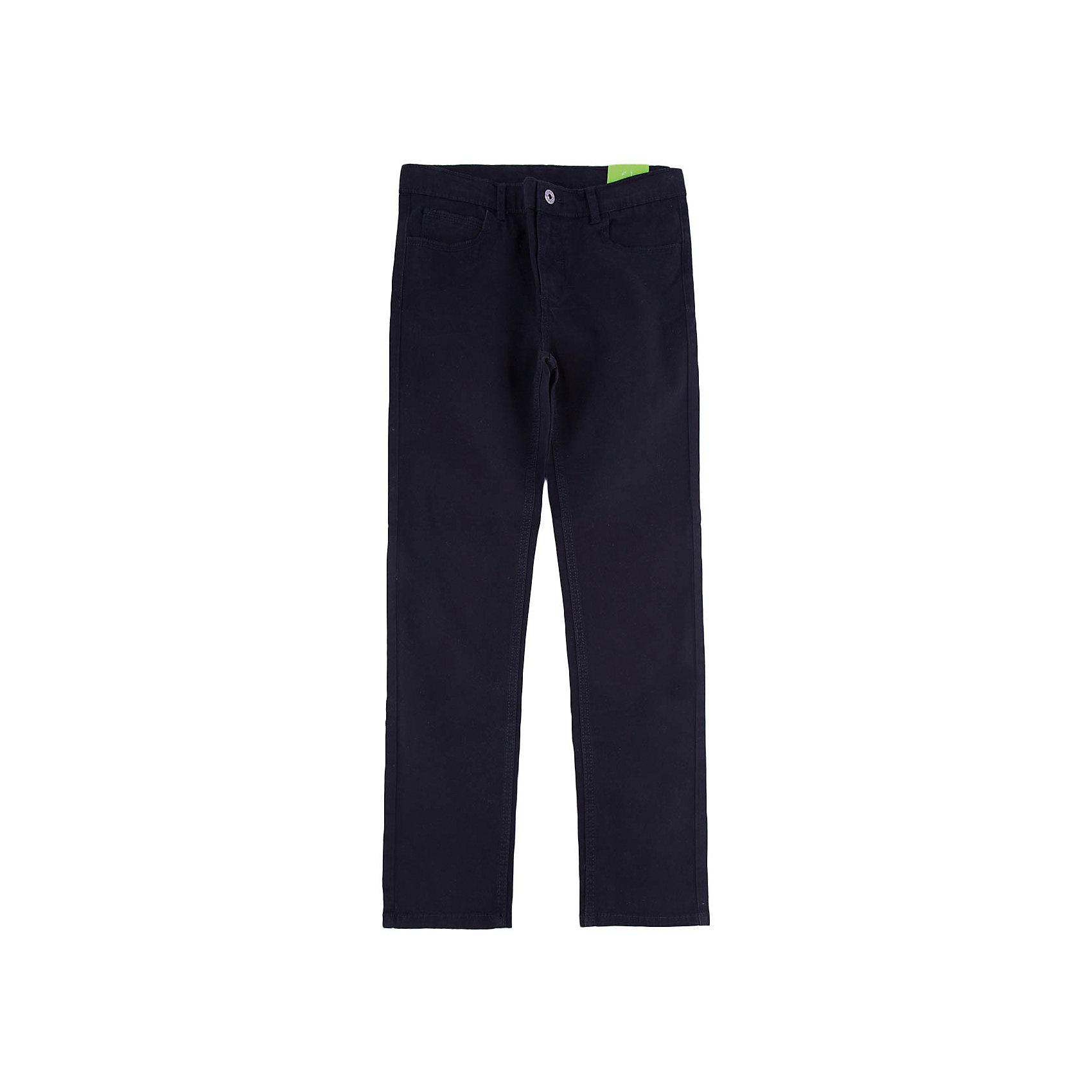 Брюки для мальчика ScoolБрюки<br>Брюки для мальчика Scool – классика и стиль для юных модников.<br>Черные брюки прямого кроя подойдут как для школьной формы, так и просто для постоянной носки. Застегиваются на молнию, при необходимости можно вставить ремень. Материал не притягивает пыль. Как и в обычных моделях, брюки имеют пять карманов: три впереди, два сзади.<br><br>Дополнительная информация:<br><br>- материал: 98% хлопок, 2% эластан<br>- цвет: черный<br><br>Брюки для мальчика Scool можно купить в нашем интернет магазине.<br><br>Ширина мм: 215<br>Глубина мм: 88<br>Высота мм: 191<br>Вес г: 336<br>Цвет: черный<br>Возраст от месяцев: 132<br>Возраст до месяцев: 144<br>Пол: Мужской<br>Возраст: Детский<br>Размер: 152,158,164,140,146,134<br>SKU: 4911586