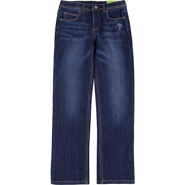 Джинсы для мальчика ScoolДжинсы<br>Джинсы для мальчика Scool – мода и стиль для подростков. <br>Классические темно-синие джинсы прямого покроя. Не сковывают движение, хорошо тянутся. Имеют пять карманов: три впереди, два сзади. Застегиваются на молнию, при необходимости можно вставить ремень. Можно стирать в машинке. Быстро сохнут.<br><br>Дополнительная информация:<br>- материал: 62% хлопок, 23% вискоза, 13% полиэстер, 2% эластан<br>- цвет: темно-синий<br><br>Джинсы для мальчика Scool можно купить в нашем интернет магазине.<br><br>Ширина мм: 215<br>Глубина мм: 88<br>Высота мм: 191<br>Вес г: 336<br>Цвет: синий<br>Возраст от месяцев: 96<br>Возраст до месяцев: 108<br>Пол: Мужской<br>Возраст: Детский<br>Размер: 134,146,140,152,158,164<br>SKU: 4911593