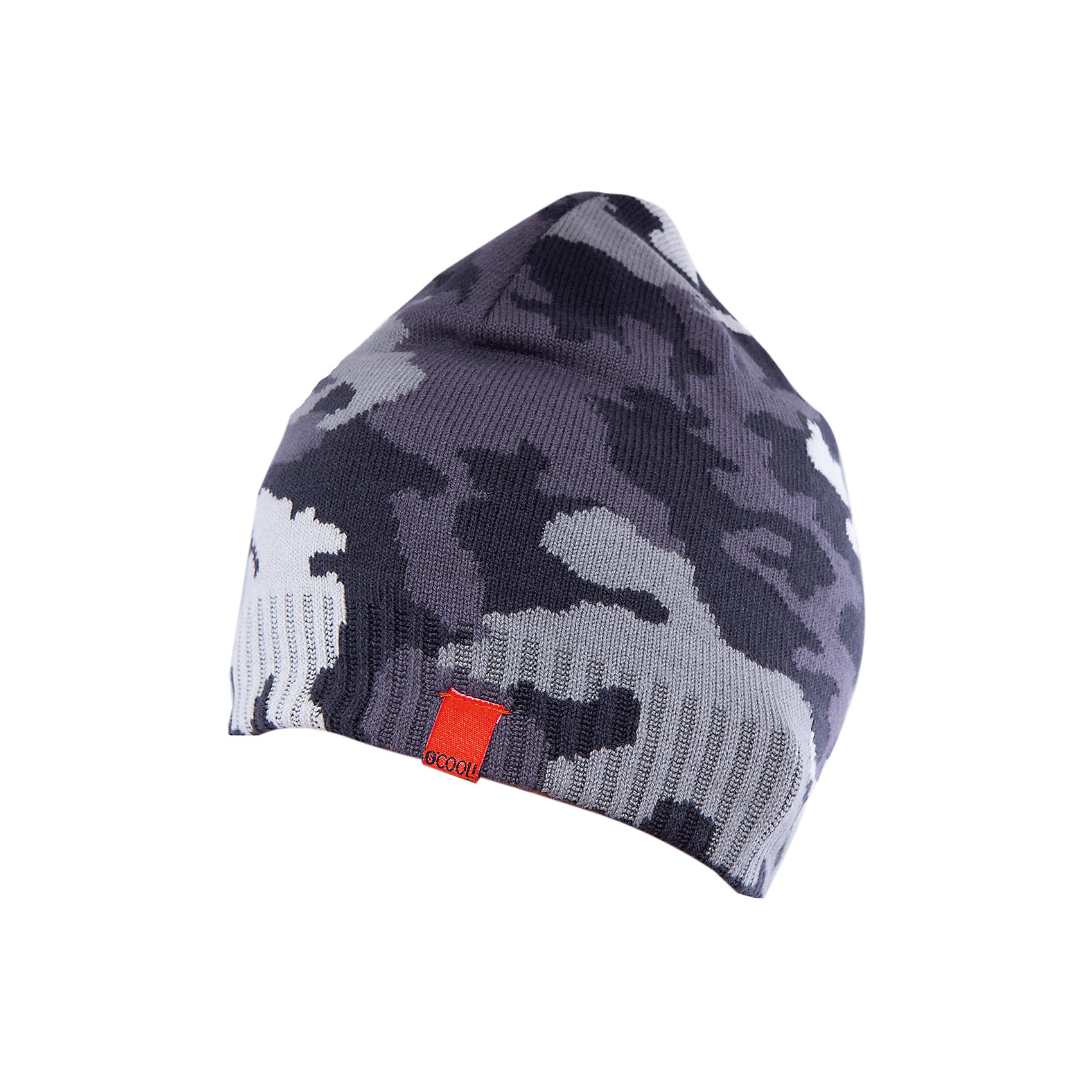 Шапка для мальчика ScoolГоловные уборы<br>Шапка для мальчика Scool – отличное сочетание качества и классического внешнего вида.<br>Стильная шапка в стиле милитари с удобной резинкой, не позволяющей слететь с головы, защитит голову и уши от холода. Благодаря тому, что шапка двухслойна, ее можно носить в очень холодное время, не боясь, что ребенок замерзнет. Подойдет для активных прогулок. Сделана из качественного материала, который не вызывает аллергию.<br><br>Дополнительная информация:<br><br>- материал: верх: 60% хлопок, 40% акрил, подкладка: 60% хлопок, 40% акрил<br>- цвет: серый<br><br>Шапку для мальчика Scool можно купить в нашем интернет магазине.<br><br>Ширина мм: 89<br>Глубина мм: 117<br>Высота мм: 44<br>Вес г: 155<br>Цвет: серый<br>Возраст от месяцев: 72<br>Возраст до месяцев: 84<br>Пол: Мужской<br>Возраст: Детский<br>Размер: 54,56<br>SKU: 4911635
