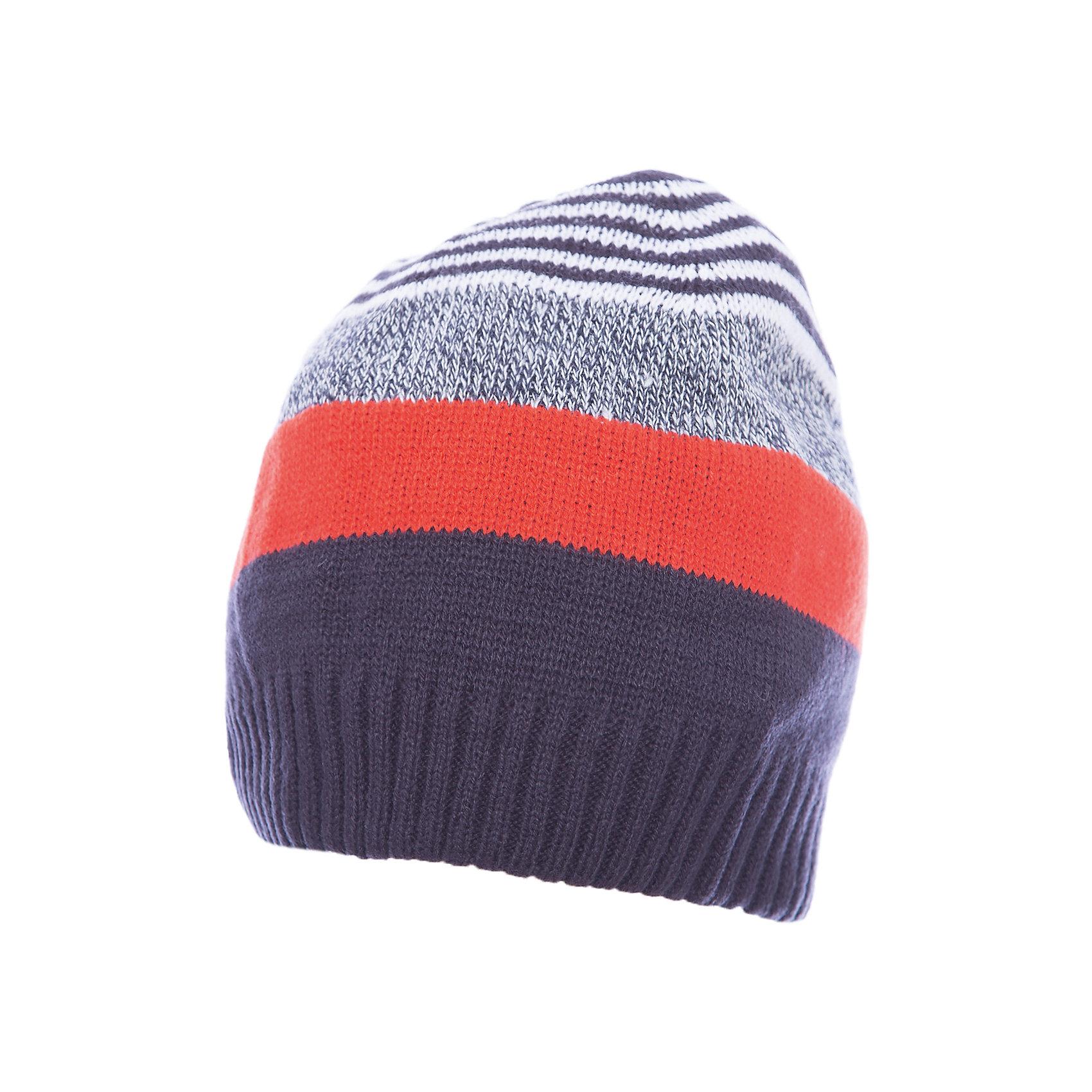 Шапка для мальчика ScoolГоловные уборы<br>Шапка для мальчика Scool – отличное сочетание качества и классического внешнего вида.<br>Стильная и яркая шапка с удобной резинкой, не позволяющей слететь с головы, защитит голову и уши от холода. Благодаря тому, что шапка двухслойная, ее можно носить в очень холодное время, не боясь, что ребенок замерзнет. Подойдет для активных прогулок. Сделана из качественного материала, который не вызывает аллергию.<br><br>Дополнительная информация:<br><br>- материал: 100% акрил<br>- цвет: серый, оранжевый, белый<br><br>Шапку для мальчика Scool можно купить в нашем интернет магазине.<br><br>Ширина мм: 89<br>Глубина мм: 117<br>Высота мм: 44<br>Вес г: 155<br>Цвет: белый<br>Возраст от месяцев: 72<br>Возраст до месяцев: 84<br>Пол: Мужской<br>Возраст: Детский<br>Размер: 54,56<br>SKU: 4911638