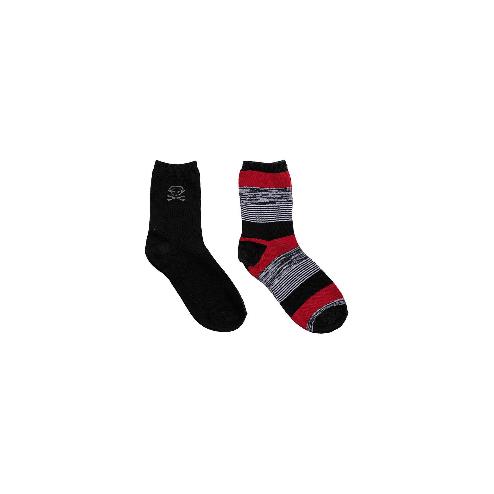 Носки, 2 пары для мальчика ScoolНоски, 2 пары для мальчика Scool – на учебу и на прогулку.<br>Классические черные носки, украшенные современной картинкой, и яркие носки в полоску. Качественная ткань позволяет ногам дышать и не вызывает потливости. Носки длинные, хорошо подходят под брюки или джинсы. <br><br>Дополнительная информация:<br><br>- материал: 75% хлопок, 22% нейлон, 3% эластан<br>- цвет: черный, серый, красный, белый<br><br>Носки, 2 пары для мальчика Scool можно купить в нашем интернет магазине.<br><br>Ширина мм: 87<br>Глубина мм: 10<br>Высота мм: 105<br>Вес г: 115<br>Цвет: разноцветный<br>Возраст от месяцев: 120<br>Возраст до месяцев: 144<br>Пол: Мужской<br>Возраст: Детский<br>Размер: 32-35,30-32,35-40<br>SKU: 4911650