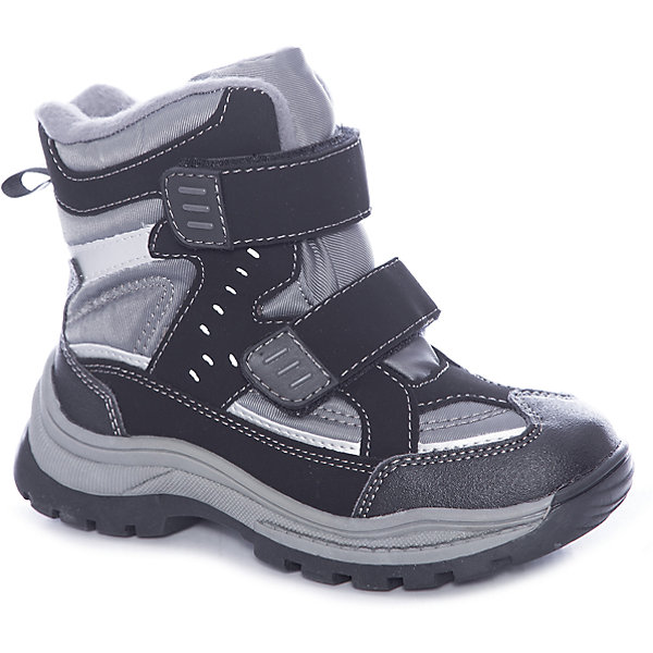 Ботинки для мальчика ScoolБотинки<br>Ботинки для мальчика Scool – удобство и комфорт в одной обуви.<br>Мягкие ботинки выполнены из искусственной кожи и текстиля. Застегиваются на липучки, что очень удобно для детей. Подошва с рифлением против скольжения. Не пропускают влагу, оставляя ноги сухими и теплыми. Сами ботинки сделаны с учетом правильного формирования стопы. <br><br>Дополнительная информация:<br><br>- материал: 60% искусственная кожа, 40% ПЭ<br>- цвет: серый<br><br>Ботинки для мальчика Scool можно купить в нашем интернет магазине.<br><br>Ширина мм: 257<br>Глубина мм: 180<br>Высота мм: 130<br>Вес г: 420<br>Цвет: черный<br>Возраст от месяцев: 96<br>Возраст до месяцев: 108<br>Пол: Мужской<br>Возраст: Детский<br>Размер: 32,36,34,37,31,38,35,33<br>SKU: 4911756