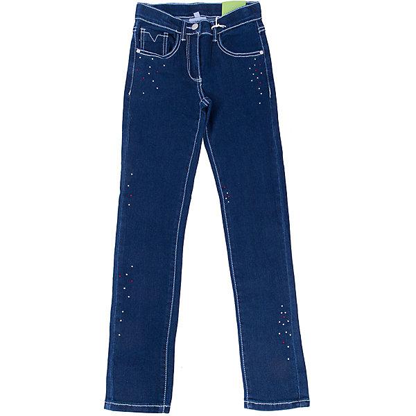 Джинсы для девочки ScoolДжинсы<br>Джинсы для девочки Scool – мода и стиль для подростков. <br>Классические темно-синие брюки слегка зауженного покроя. Украшены стразами. Не сковывают движения, хорошо тянутся. Имеют пять карманов: три впереди, два сзади. Застегиваются на молнию, при необходимости можно вставить ремень. Можно стирать в машинке. Быстро сохнут.<br><br>Дополнительная информация:<br><br>- материал: 51% хлопок, 26% полиэстер, 22% вискоза, 1% эластан<br>- цвет: темно-синий<br><br>Джинсы для девочки Scool можно купить в нашем интернет магазине.<br><br>Ширина мм: 215<br>Глубина мм: 88<br>Высота мм: 191<br>Вес г: 336<br>Цвет: синий<br>Возраст от месяцев: 96<br>Возраст до месяцев: 108<br>Пол: Женский<br>Возраст: Детский<br>Размер: 134,152,140,164,158,146<br>SKU: 4911836