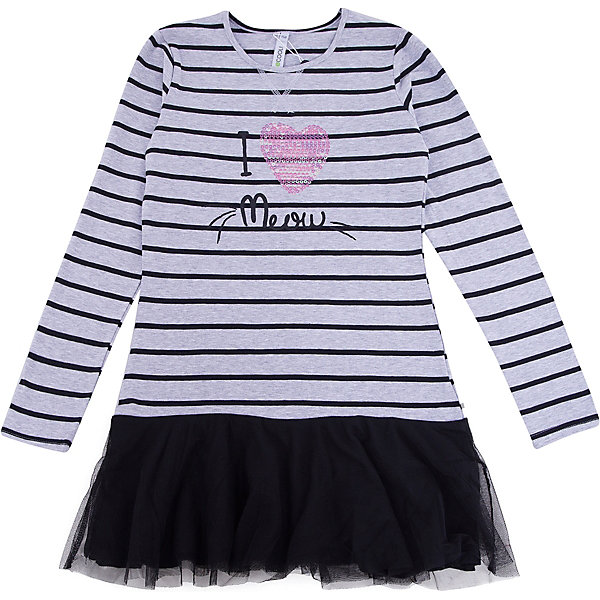 Платье для девочки ScoolПлатья и сарафаны<br>Платье для девочки Scool – милое платье для подрастающей модницы. <br>Стильное платье с легкой черной юбкой и полосатой водолазкой сверху. Украшено платье паетками и надписью. Платье отлично подойдет для прохладной погоды. Хорошо смотрится с гольфами и колготками.<br><br>Дополнительная информация:<br><br>- материал: 95% хлопок, 5% эластан; отделка 100% полиэстер<br>- цвет: белый, черный<br><br>Платье для девочки Scool можно купить в нашем интернет магазине.<br>Ширина мм: 236; Глубина мм: 16; Высота мм: 184; Вес г: 177; Цвет: черный; Возраст от месяцев: 132; Возраст до месяцев: 144; Пол: Женский; Возраст: Детский; Размер: 152,164,134,146,158,140; SKU: 4911906;