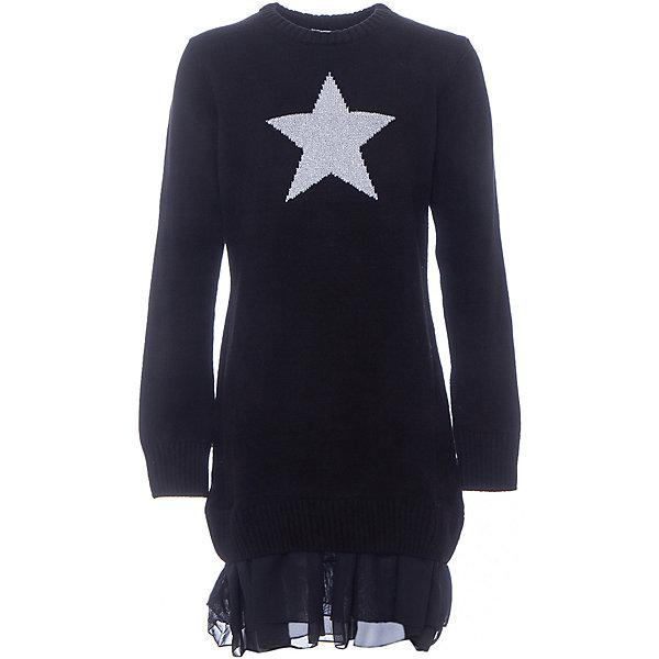 Купить Платье для девочки S'cool, Китай, черный, 140, 158, 134, 164, 146, 152, Женский