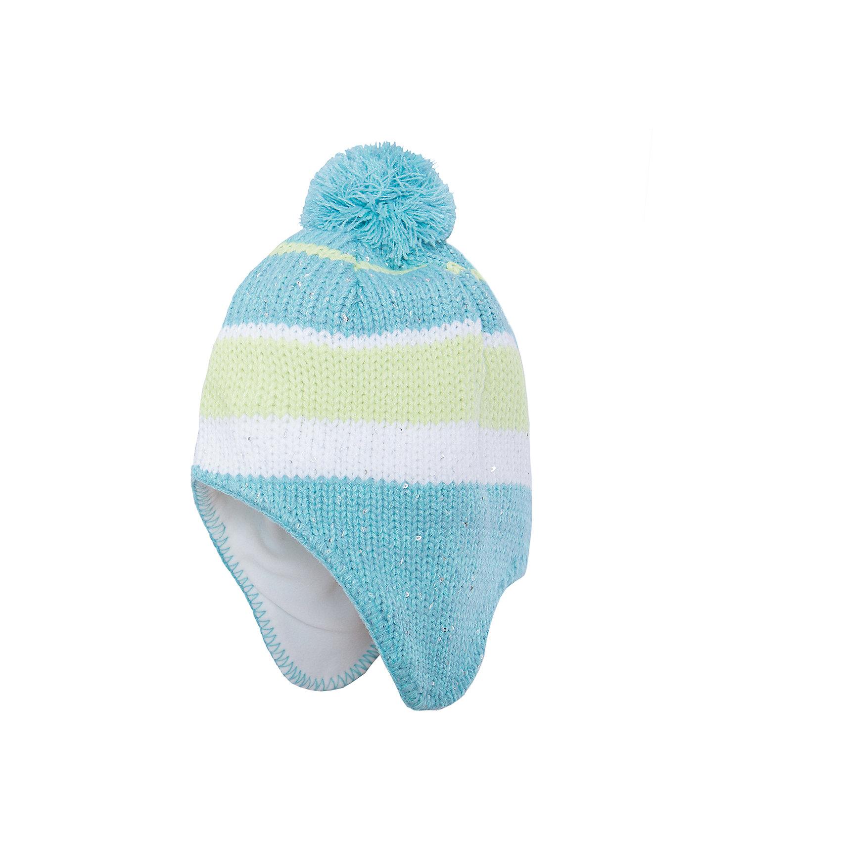 Шапка для девочки ScoolГоловные уборы<br>Характеристики:<br><br>• Вид одежды: шапка<br>• Пол: для девочки<br>• Сезон: зима, демисезонная (до -10 градусов)<br>• Материал: акрил – 100%, подкладка<br> – полиэстер, 100%<br>• Цвет: бирюзовый, белый, лимонный<br>• Наличие подкладка из флиса<br>• Наличие удлиненных боковин<br>• Особенности ухода: ручная стирка без применения отбеливающих средств<br><br>Scool – это линейка детской одежды и обуви, которая предназначена как для повседневности, так и для праздников. Большинство моделей выполнены в классическом стиле, сочетающем в себе традиции с яркими стильными элементами и аксессуарами. Весь ассортимент одежды и обуви Scool сочетается между собой по стилю и цветовому решению, поэтому Вам будет легко сформировать гардероб вашего ребенка, который отражает его индивидуальность. <br>Шапка для девочки Scool выполнена из трикотажа, который вывязан акрилом. Изделие имеет классическую вязку, выполнено в модном бирюзовом оттенке с добавлением полос из белого и лимонного оттенков, на макушке имеется помпон бирюзового цвета. Шапка с утеплением из флиса и удлиненными боковинами обеспечит тепло в прохладные зимние дни. За изделием легко ухаживать, благодаря акриловым ниткам она хорошо держит форму, не скатывается и не изменяет цвет. Шапка для девочки Scool, – это идеальный вариант для прохладной погоды!<br><br>Шапку для девочки Scool, можно купить в нашем интернет-магазине.<br><br>Ширина мм: 89<br>Глубина мм: 117<br>Высота мм: 44<br>Вес г: 155<br>Цвет: разноцветный<br>Возраст от месяцев: 72<br>Возраст до месяцев: 84<br>Пол: Женский<br>Возраст: Детский<br>Размер: 54,56<br>SKU: 4912091