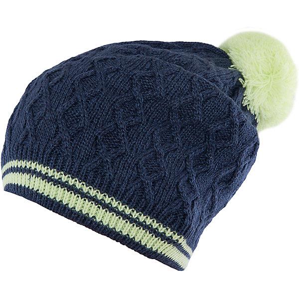 Шапка для девочки ScoolГоловные уборы<br>Характеристики:<br><br>• Вид одежды: шапка<br>• Пол: для девочки<br>• Сезон: демисезонная (до -5 градусов)<br>• Материал: акрил – 100% <br>• Цвет: темно-синий<br>• Особенности ухода: ручная стирка без применения отбеливающих средств<br><br>Scool – это линейка детской одежды и обуви, которая предназначена как для повседневности, так и для праздников. Большинство моделей выполнены в классическом стиле, сочетающем в себе традиции с яркими стильными элементами и аксессуарами. Весь ассортимент одежды и обуви Scool сочетается между собой по стилю и цветовому решению, поэтому Вам будет легко сформировать гардероб вашего ребенка, который отражает его индивидуальность. <br>Шапка для девочки Scool выполнена из двухслойного трикотажа, который вывязан акрилом. Изделие имеет фактурную вязку, выполнено в темно-синем цвете, имеются яркие элементы: помпон лимонного цвета и двойная полоска на резинке. Шапка легка в уходе, благодаря акриловым ниткам она хорошо держит форму, не скатывается и не изменяет цвет. Шапка для девочки Scool, – это идеальный вариант для прохладной осенне-весенней погоды!<br><br>Шапку для девочки Scool, можно купить в нашем интернет-магазине.<br>Ширина мм: 89; Глубина мм: 117; Высота мм: 44; Вес г: 155; Цвет: белый; Возраст от месяцев: 72; Возраст до месяцев: 84; Пол: Женский; Возраст: Детский; Размер: 54,56; SKU: 4912111;
