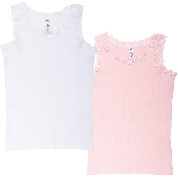 Майка, 2 шт. для девочки ScoolНижнее бельё<br>Майка, 2 шт. для девочки Scool – комплект для подрастающих принцесс.<br>Нежные майки белого и розового цвета идеально подойдут под рубашку или водолазку. Благодаря тому, что они хорошо прилегают, их не будет видно. Рукава маек украшены эластичным кружевом по краям. Хлопковая ткань позволяет телу дышать и не вызывает аллергии.<br><br>Дополнительная информация:<br><br>- материал: 95% хлопок, 5% эластан<br>- цвет: белый, розовый<br><br>Майки, 2 шт. для девочки Scool можно купить в нашем интернет магазине.<br><br>Ширина мм: 199<br>Глубина мм: 10<br>Высота мм: 161<br>Вес г: 151<br>Цвет: розовый<br>Возраст от месяцев: 156<br>Возраст до месяцев: 168<br>Пол: Женский<br>Возраст: Детский<br>Размер: 164,146,152,140,134,158<br>SKU: 4912128