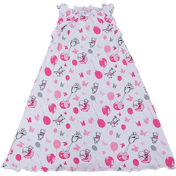 Ночная сорочка для девочки ScoolПижамы и сорочки<br>Ночная сорочка для девочки Scool – милая и нежная вещь для комфортного сна.<br>Белая ночная рубашка с Винни Пухом изготовлена из натурального хлопка. Поэтому тело будет дышать ночью. Сверху рубашка, как и рукава, на резинках, создается эффект «рюш». Внизу расклешенный низ.<br><br>Дополнительная информация:<br><br>- материал: 95% хлопок, 5% эластан <br>- цвет: белый, розовый<br><br>Ночная сорочка для девочки Scool можно купить в нашем интернет магазине.<br><br>Ширина мм: 281<br>Глубина мм: 70<br>Высота мм: 188<br>Вес г: 295<br>Цвет: белый<br>Возраст от месяцев: 132<br>Возраст до месяцев: 144<br>Пол: Женский<br>Возраст: Детский<br>Размер: 152,146,158,134,140,164<br>SKU: 4912263